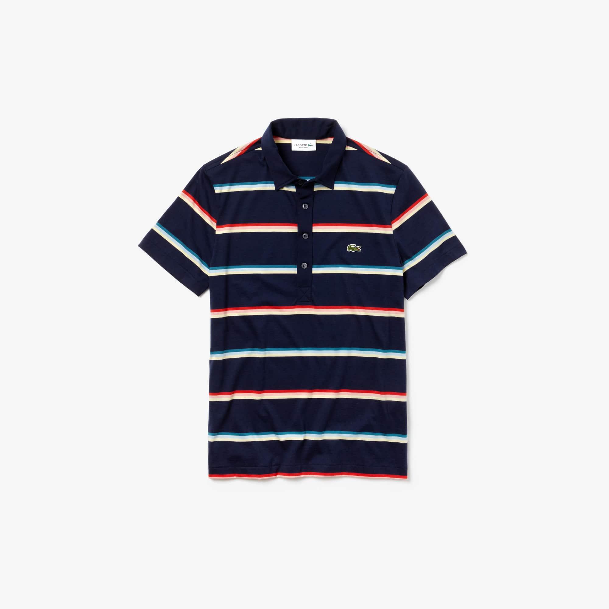 b52c20295c Men's Lacoste Regular Fit Colour Striped Cotton Polo Shirt | LACOSTE