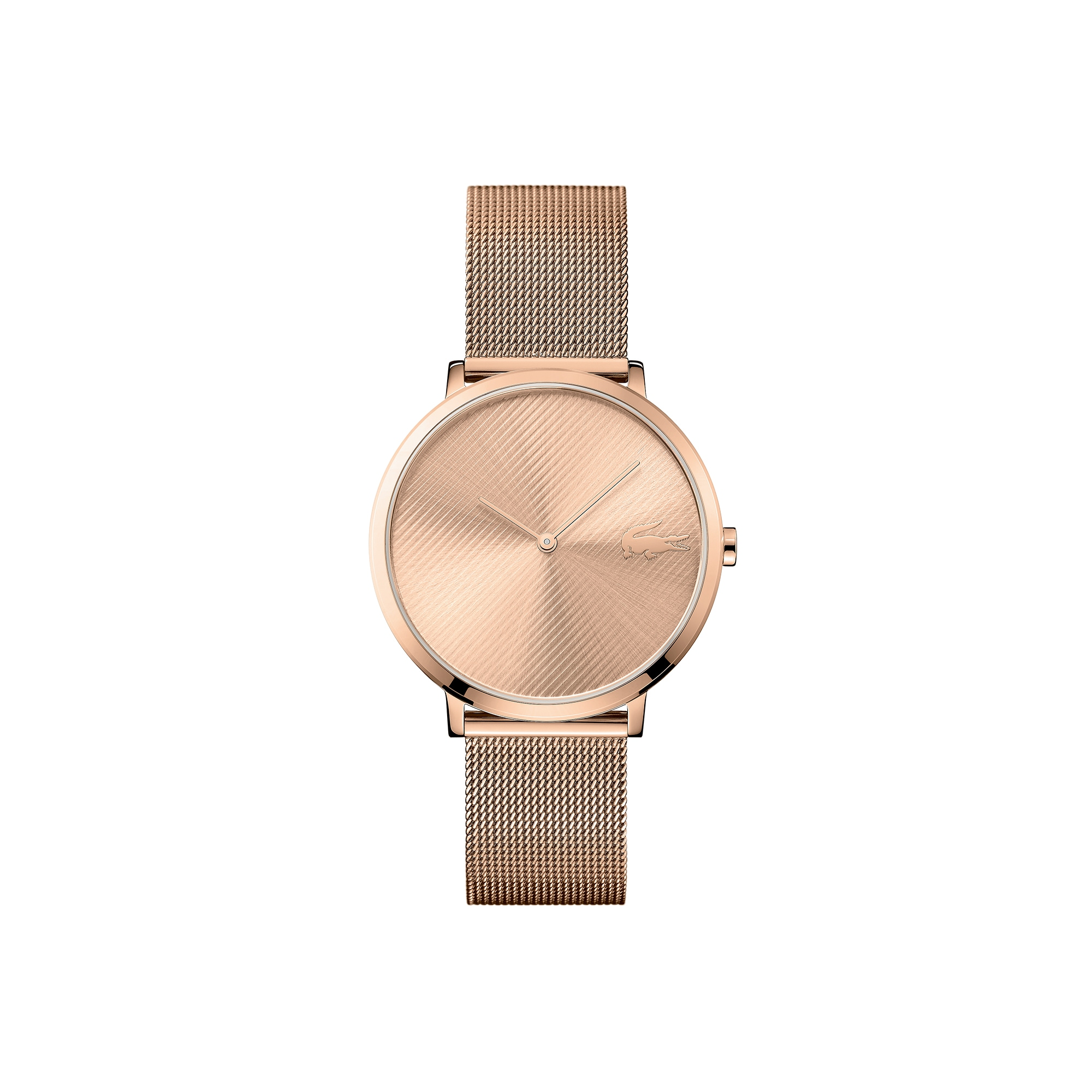 Women's Moon Ultra Slim Watch with Rose Gold Plated Mesh Bracelet