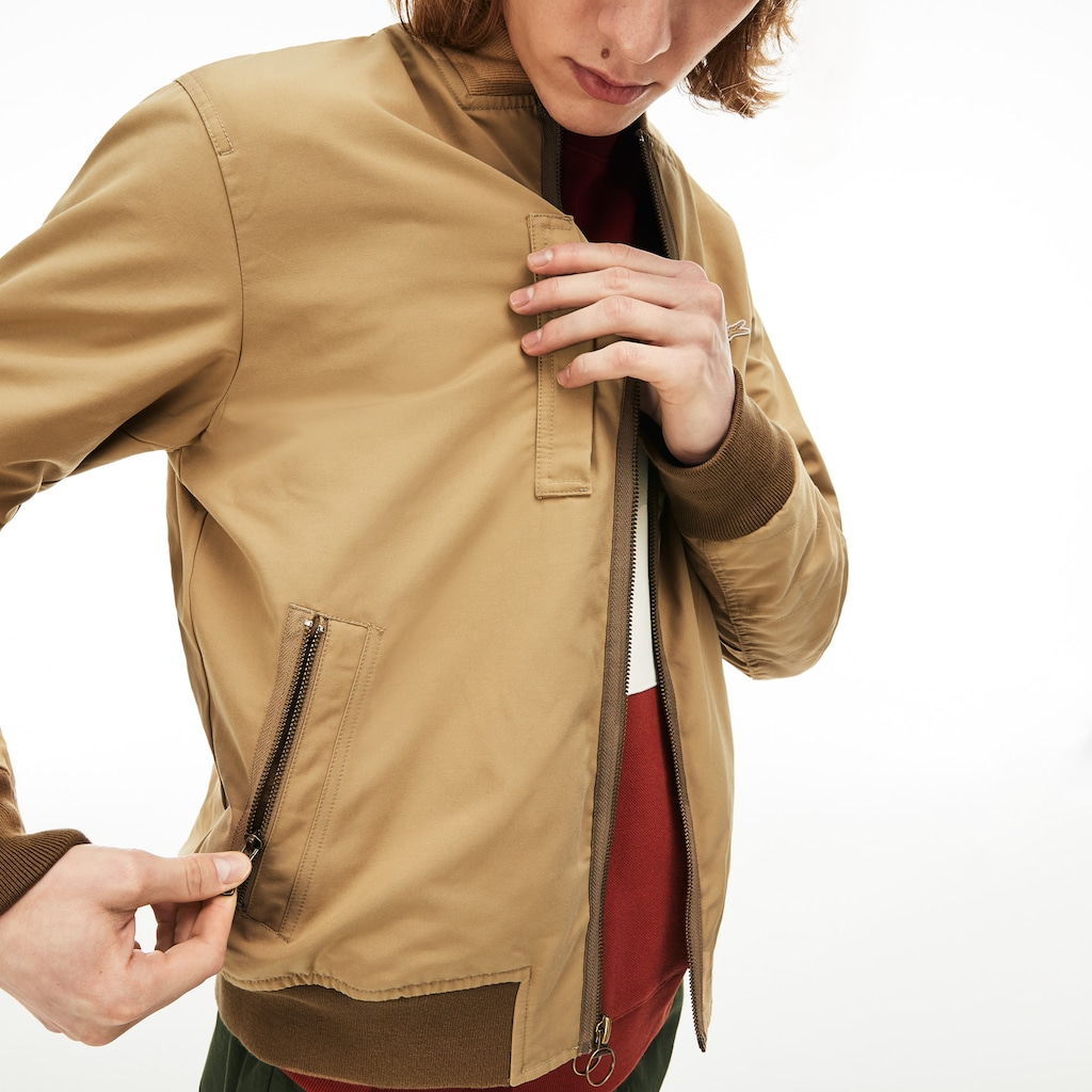 Men's Lightweight Texturized Cotton Bomber