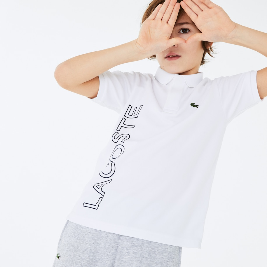 Boys' Lacoste SPORT Branded Breathable Piqué Polo Shirt