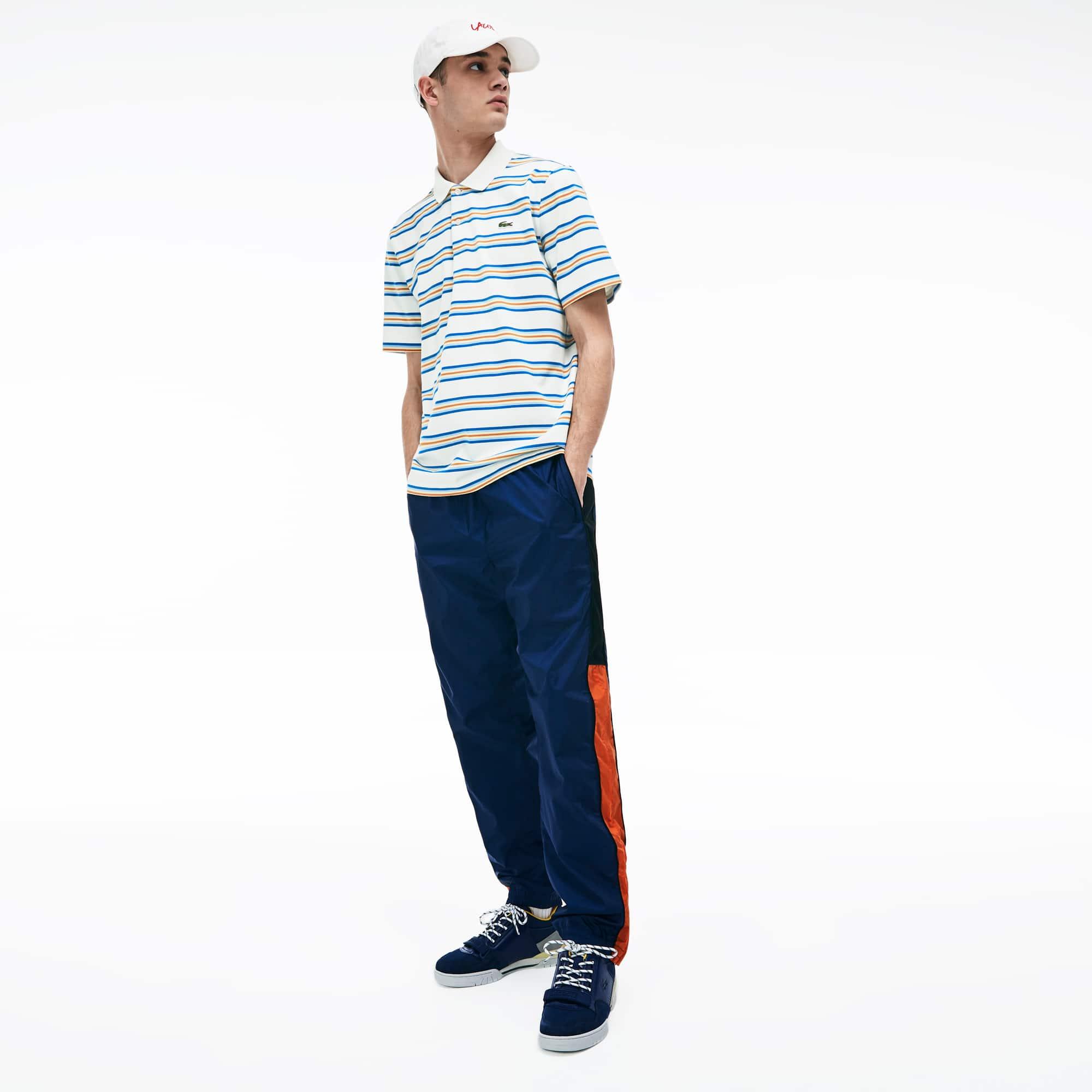 c81c43176c Men's Lacoste LIVE Regular Fit Colour Striped Cotton Polo Shirt ...