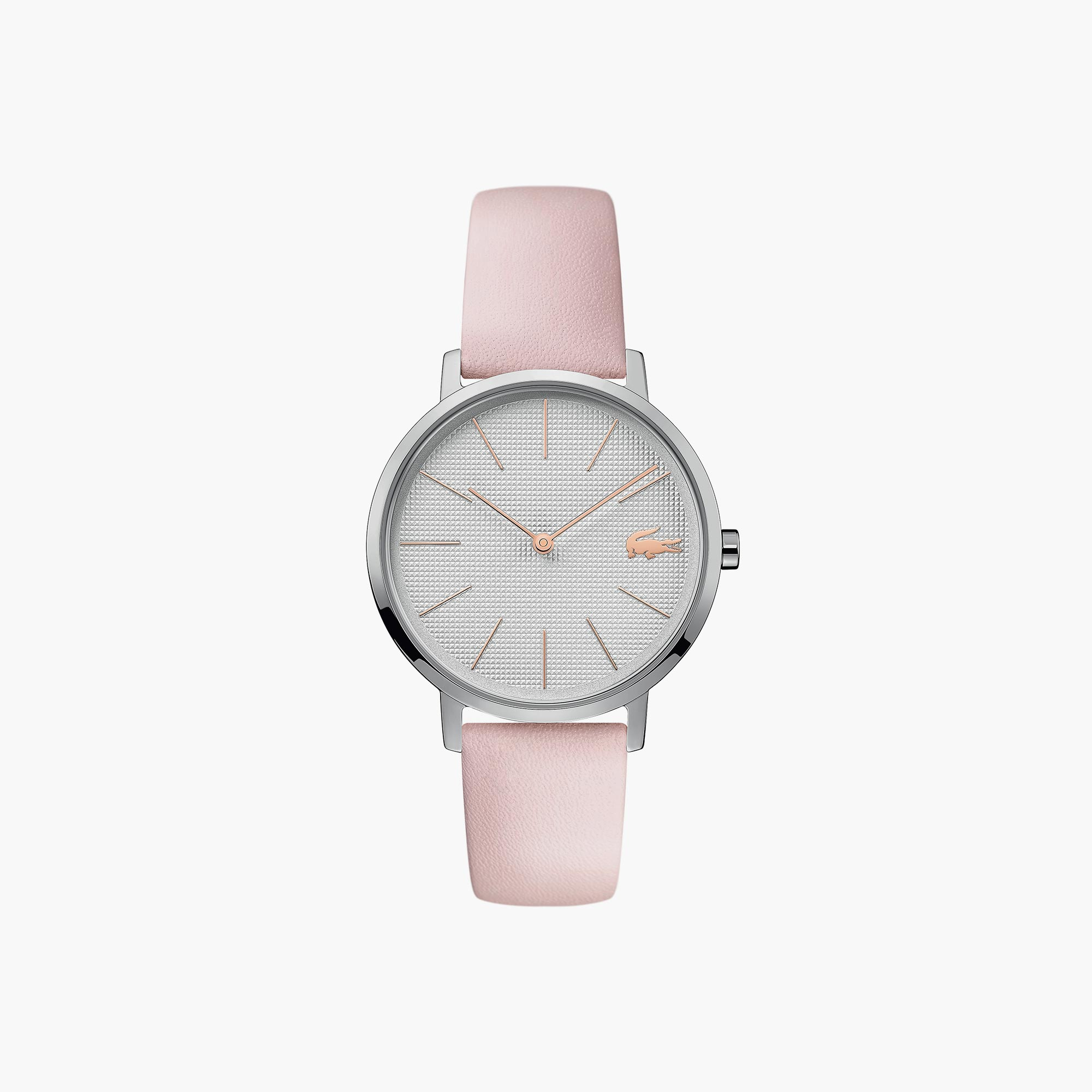 Ladies Moon Watch with Pink Leather Strap