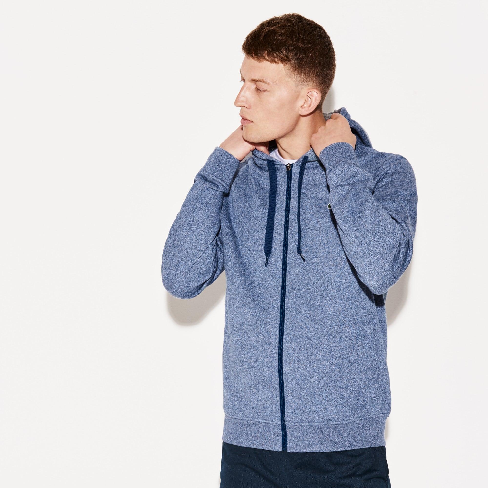Men's Lacoste SPORT Tennis hooded zippered sweatshirt in fleece