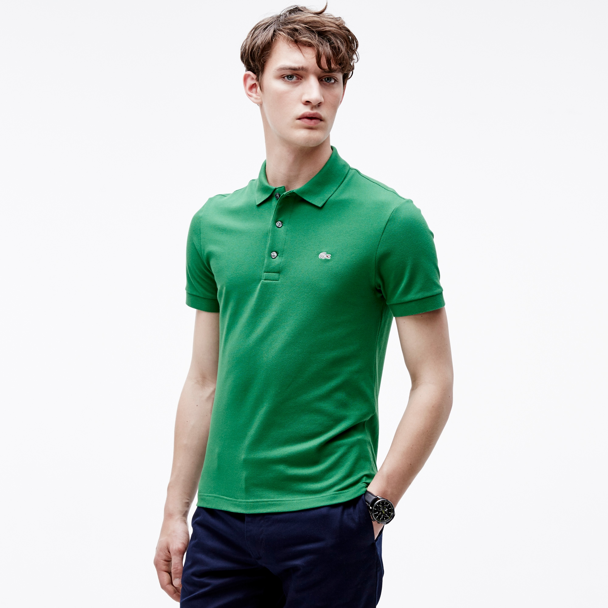 f2c916ca5 Men s Slim fit Lacoste Polo Shirt in stretch petit piqué