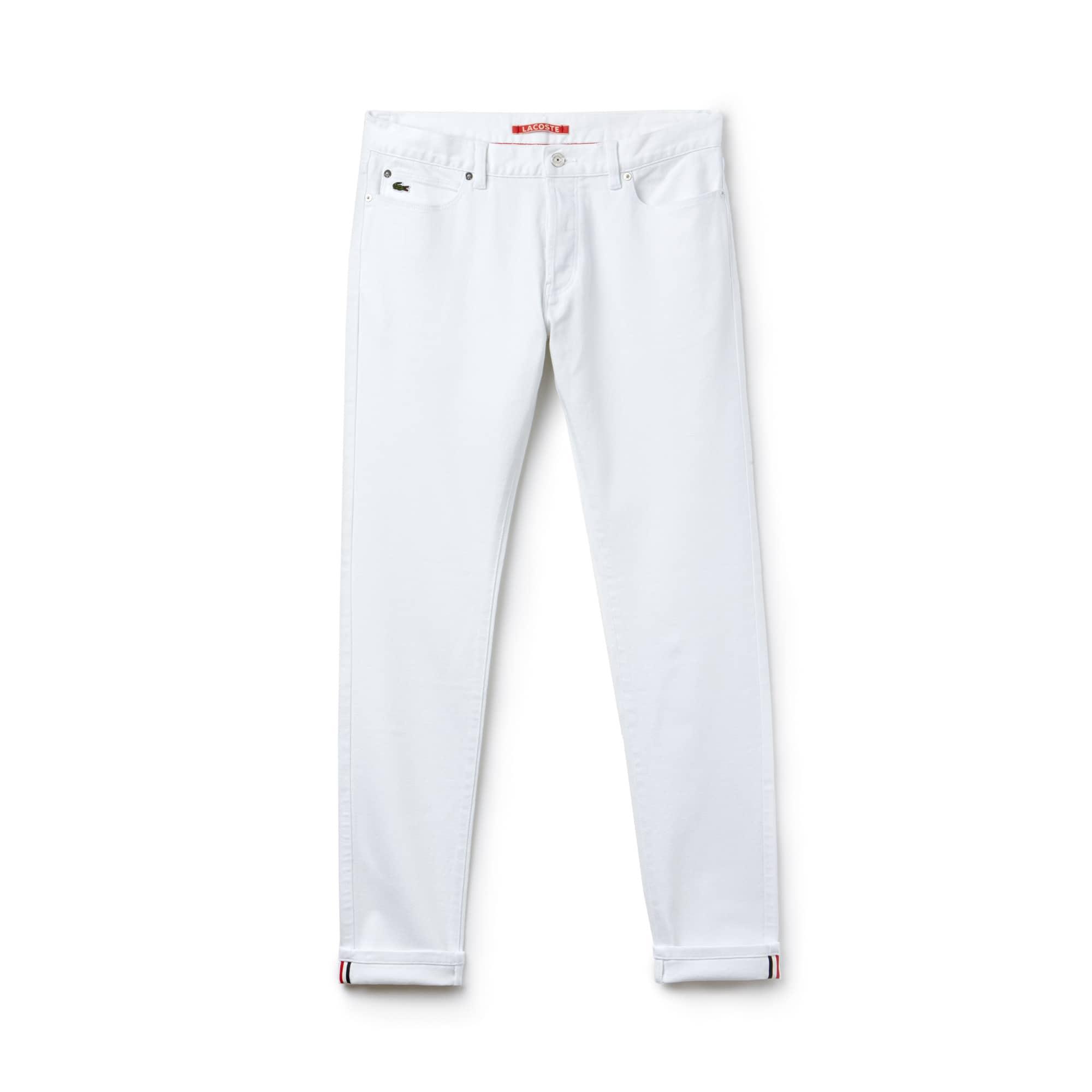 Men's Lacoste LIVE 5-Pocket Turned Edge Stretch Denim Jeans