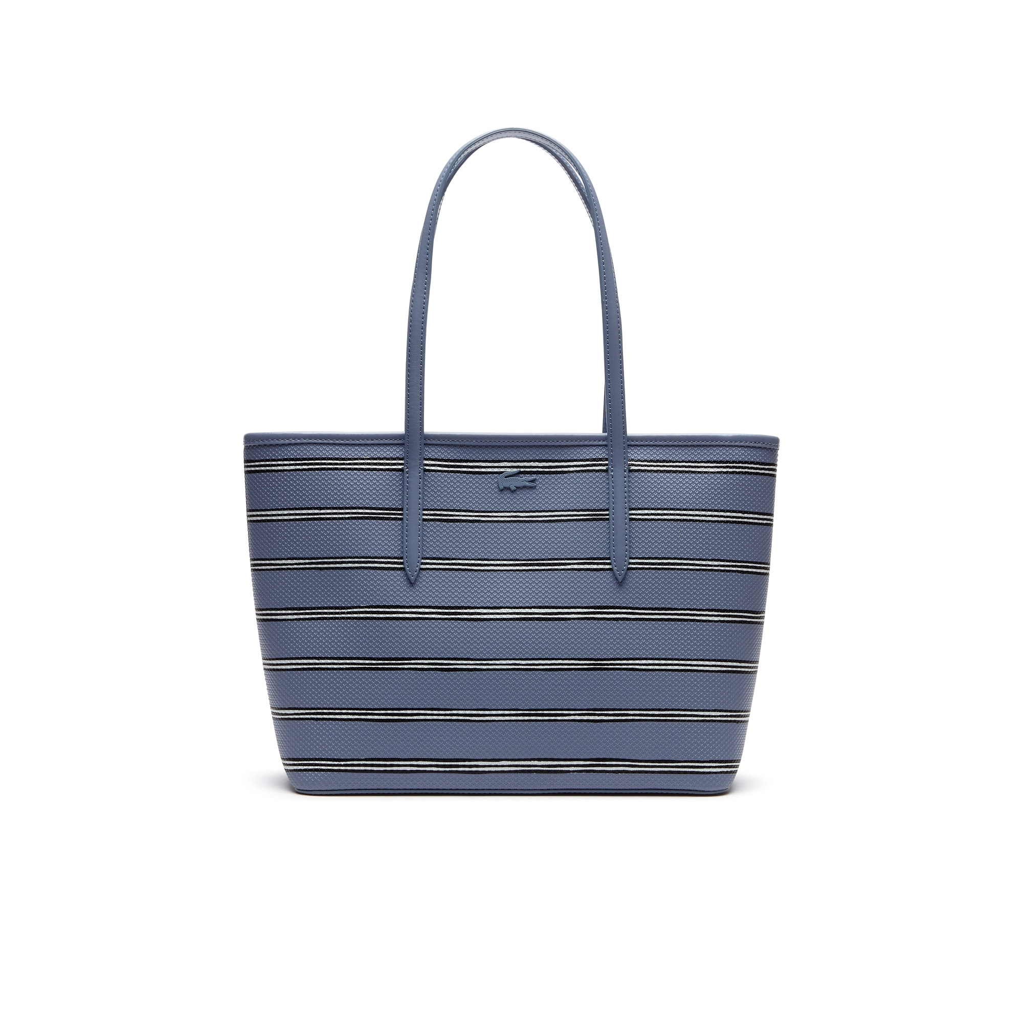 Women's Chantaco Striped Print Piqué Leather Zip Tote Bag