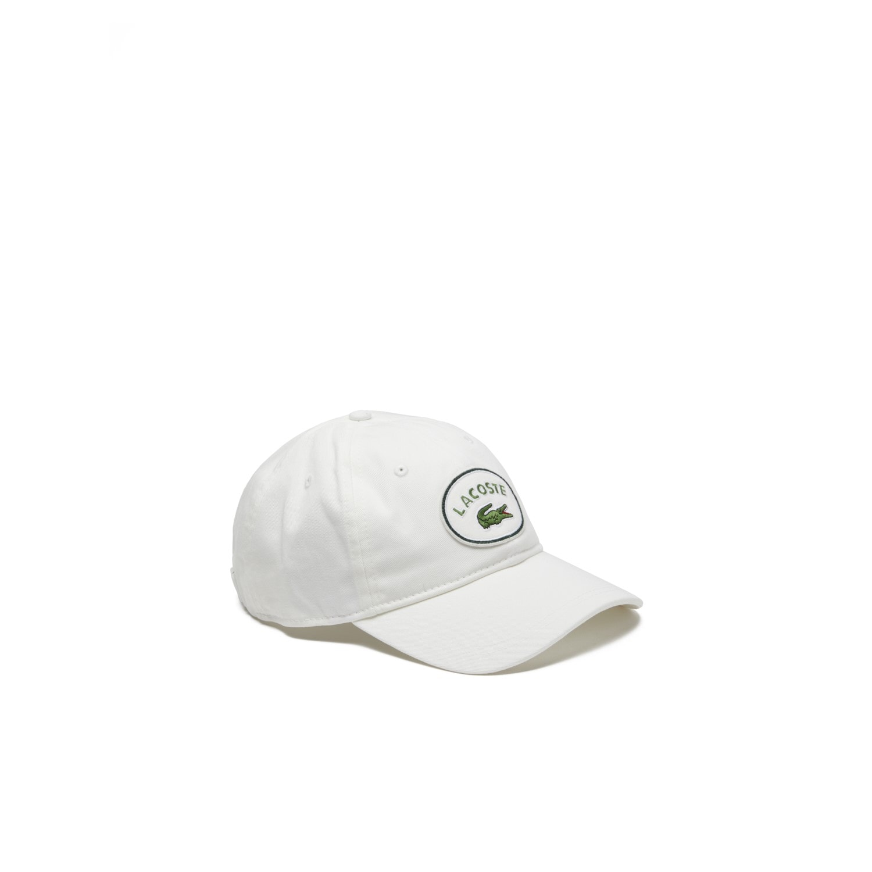 43b5b706eb6c8b Men's Lacoste Badge Cotton Gabardine Cap   LACOSTE