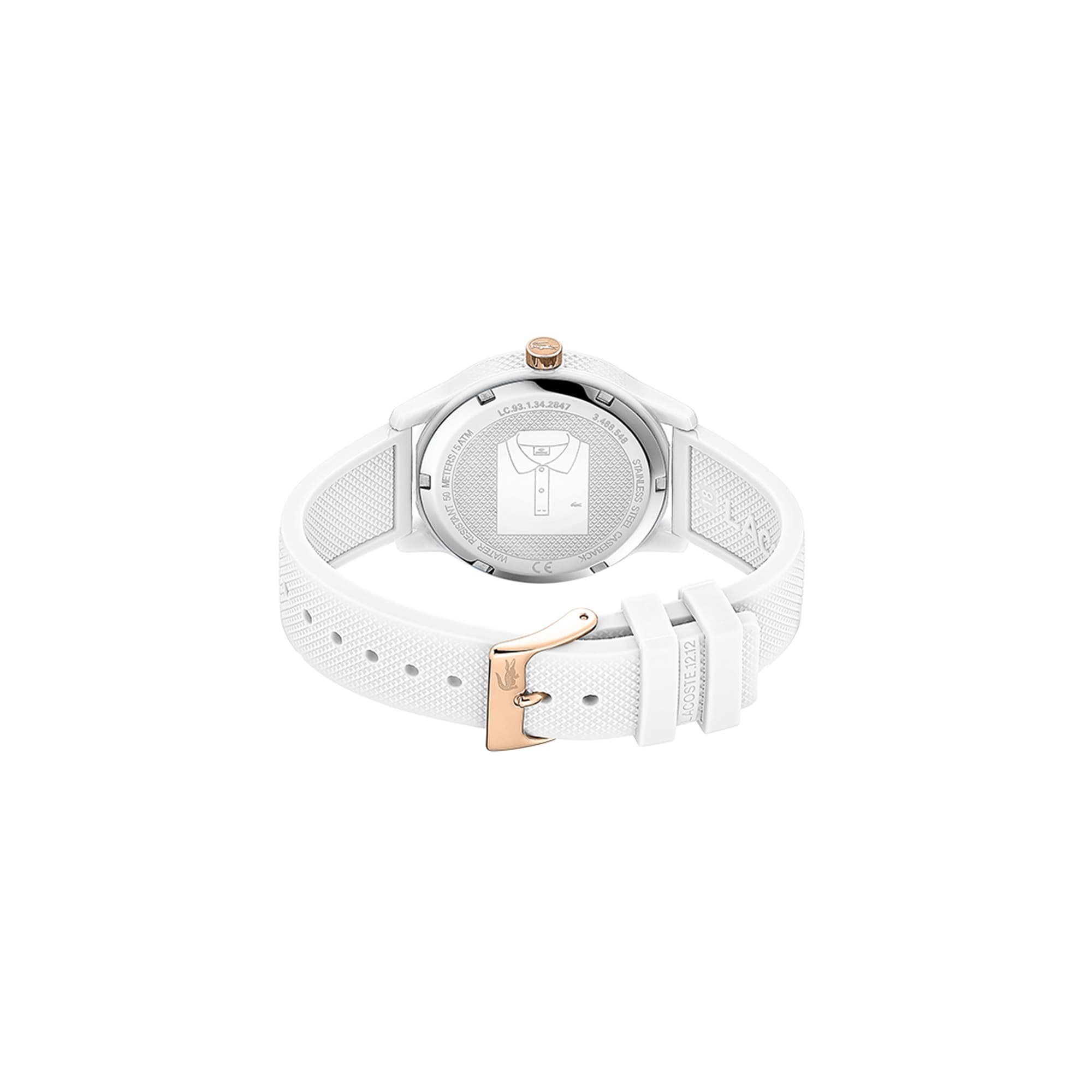 a137d20228 Ladies Lacoste.12.12 Hawaii Watch with White Silicone with Petit ...