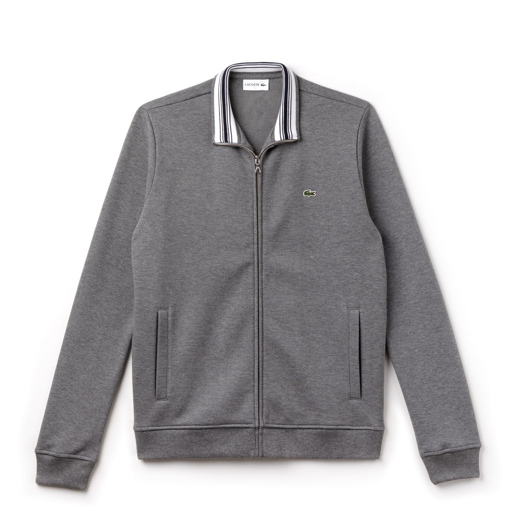 Men's Zip Stand-Up Collar Fleece Sweatshirt