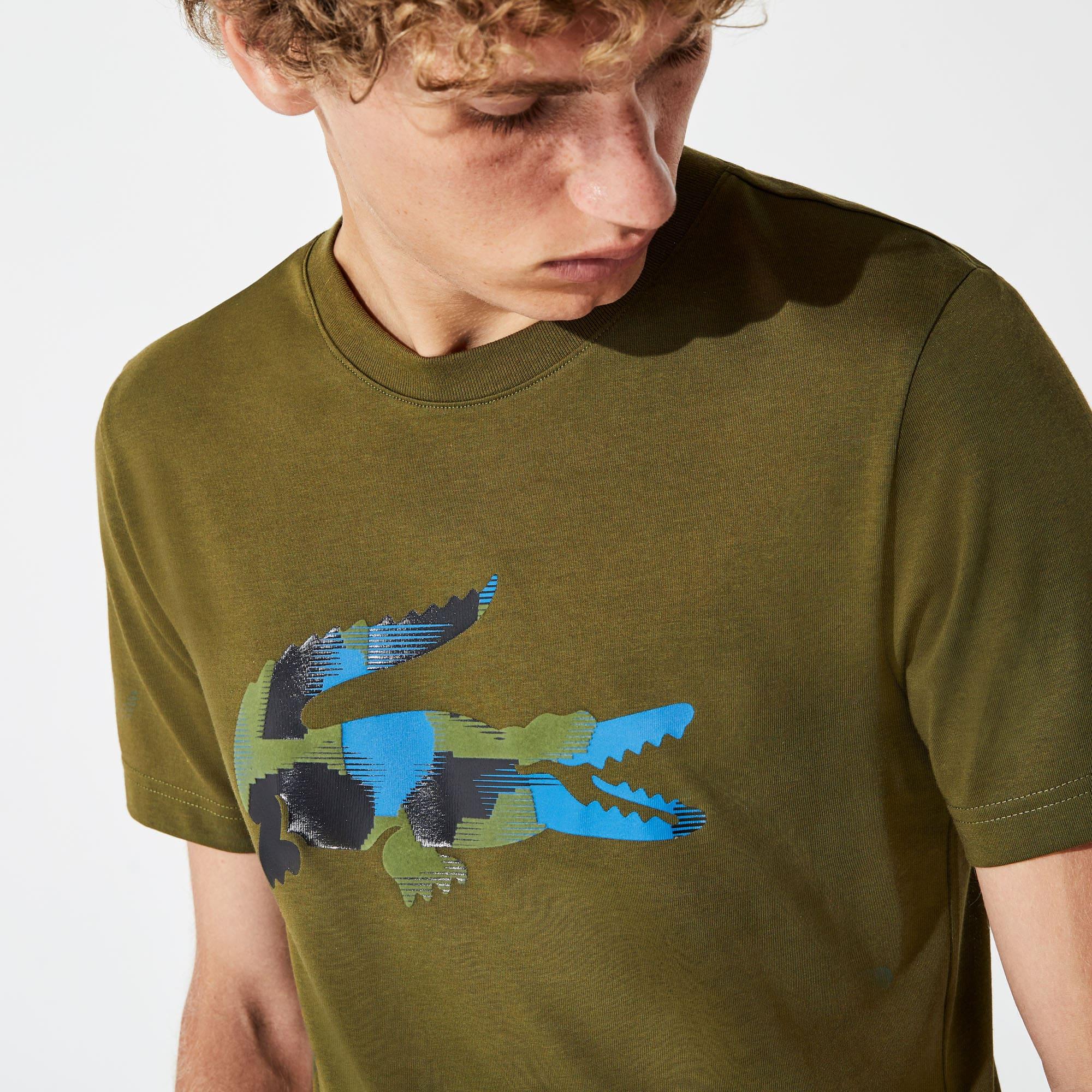4f9c93d642 Men's Lacoste SPORT Camouflage Print Crocodile Jersey T-shirt | LACOSTE