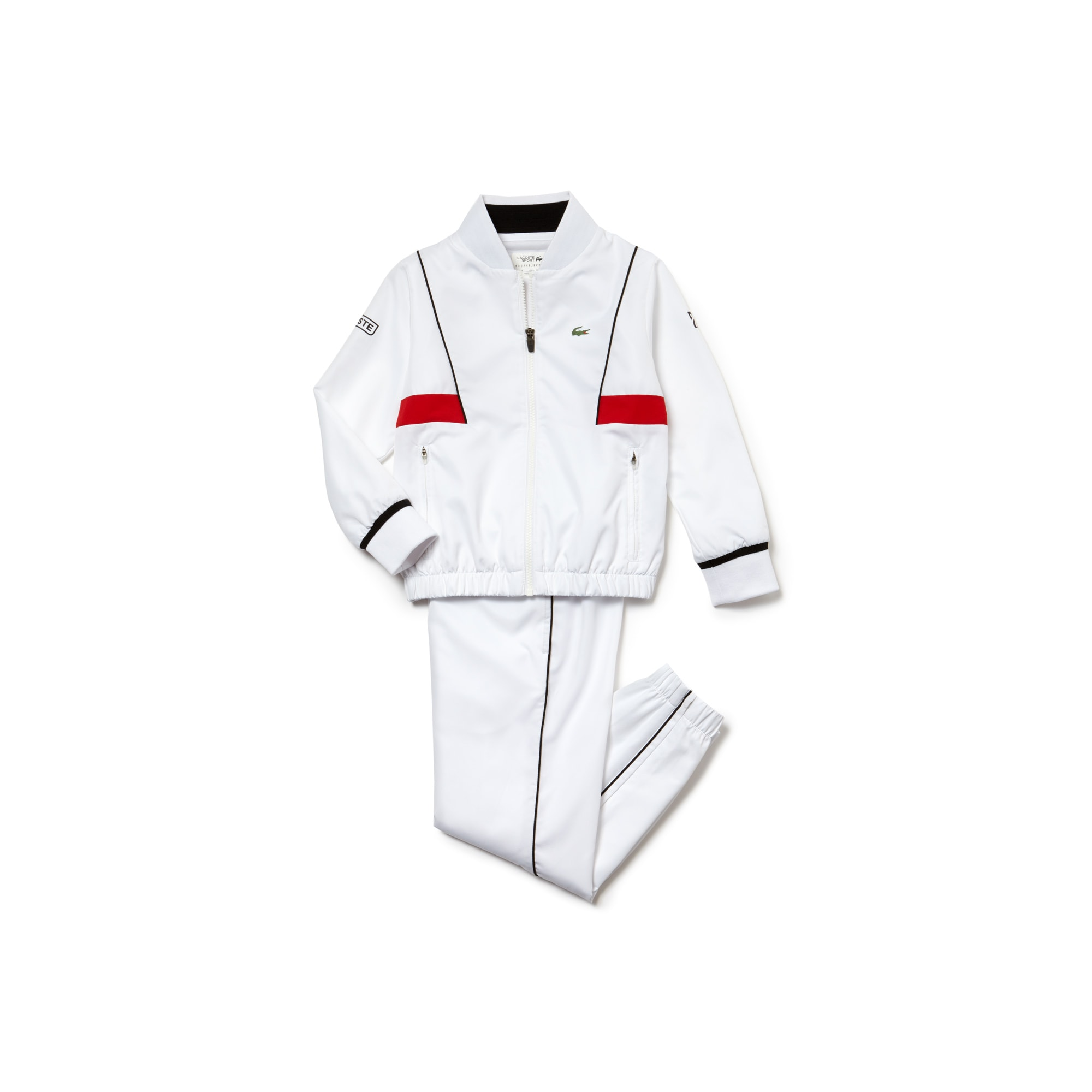 Boys' LACOSTE SPORT NOVAK DJOKOVIC COLLECTION Taffeta Tracksuit