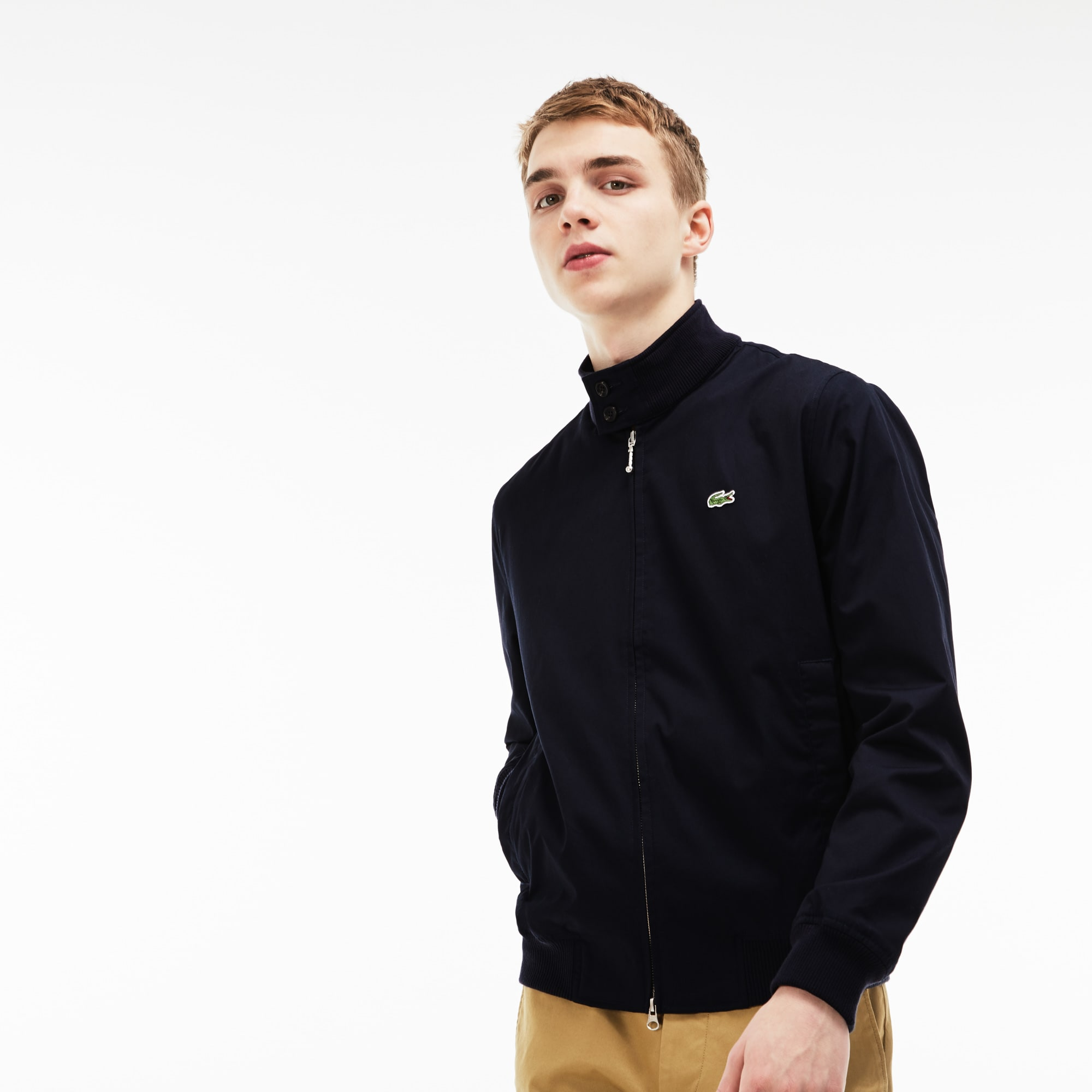 Men's Lacoste LIVE Canvas Short Zip Jacket