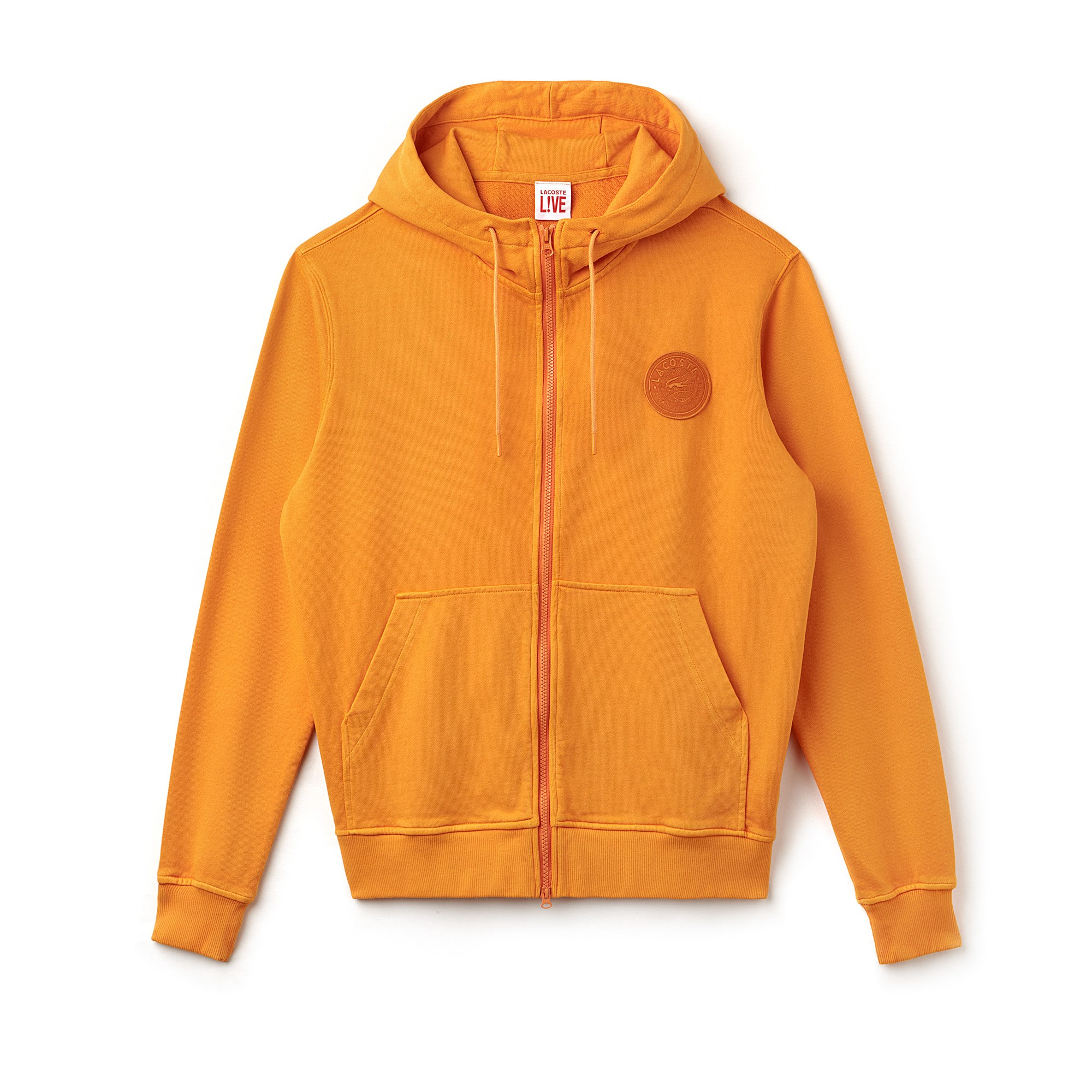 Men's Lacoste LIVE Hood Fleece Zip Sweatshirt With Badge