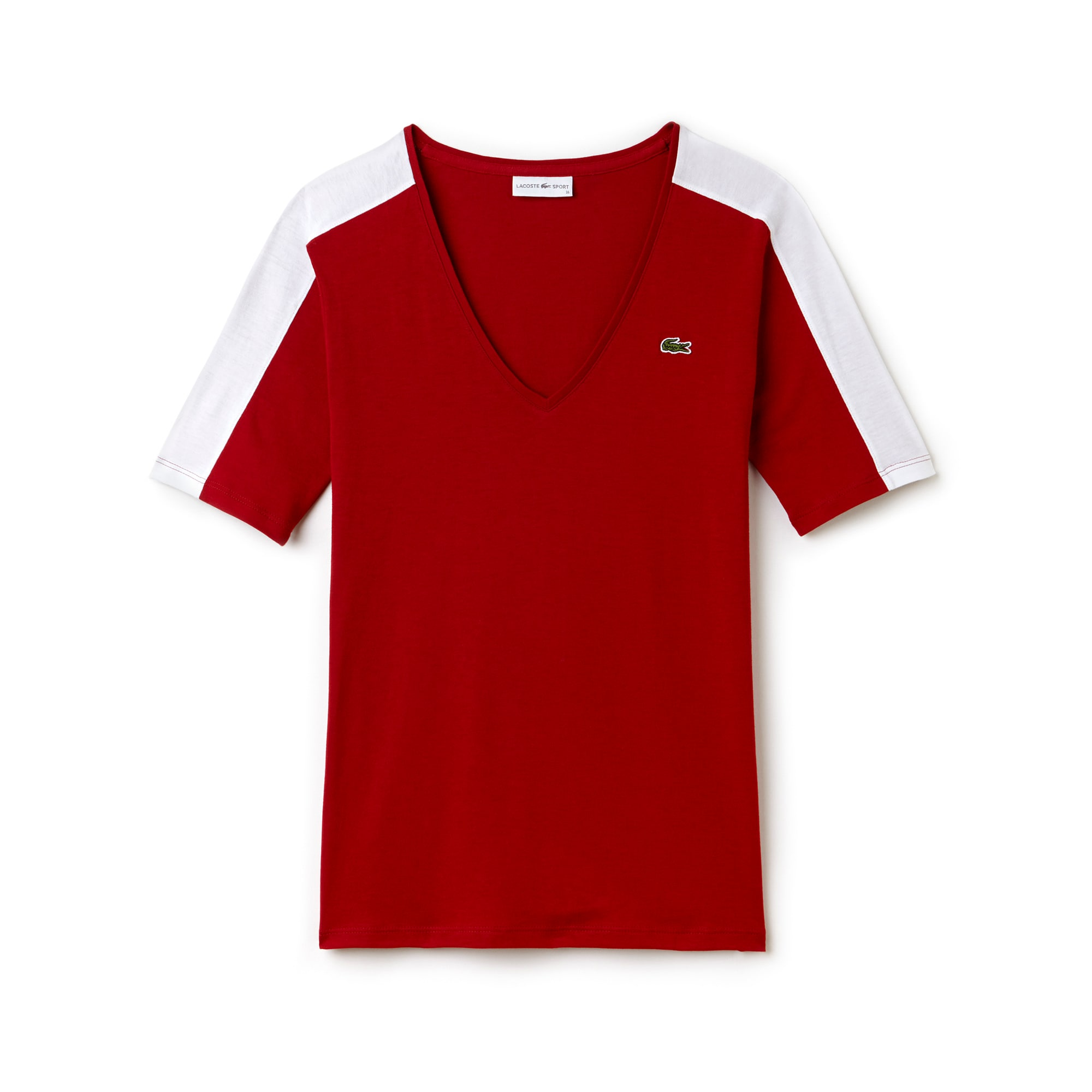 Women's Lacoste SPORT Tennis V-neck Flowing Jersey T-shirt