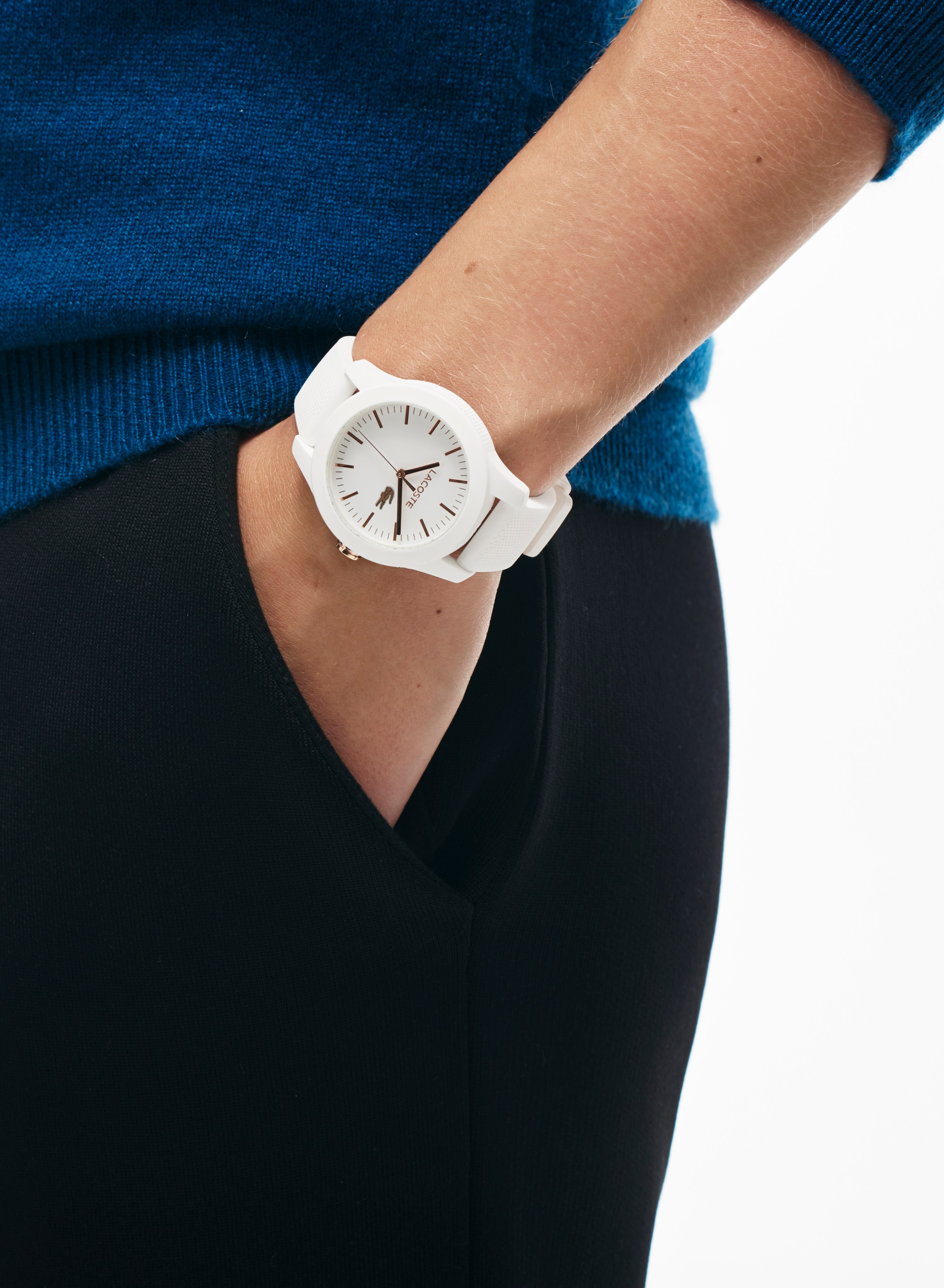 Women's Lacoste 12.12 Watch with White Silicone Strap