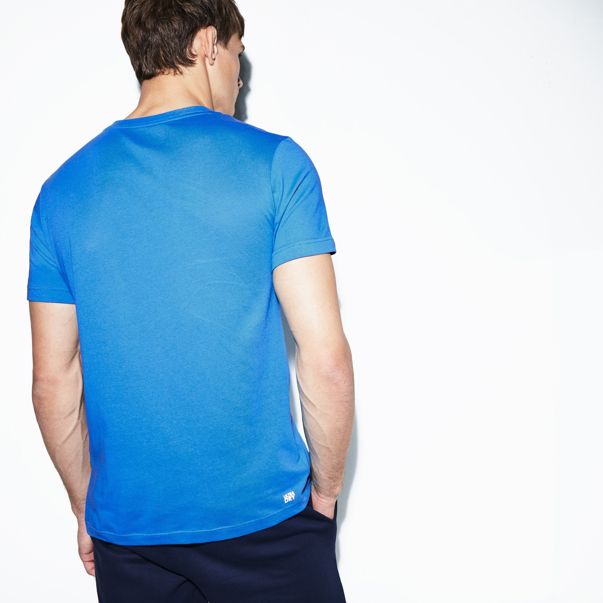 Men's Lacoste SPORT Crew Neck Croc Print Tech Jersey Tennis...