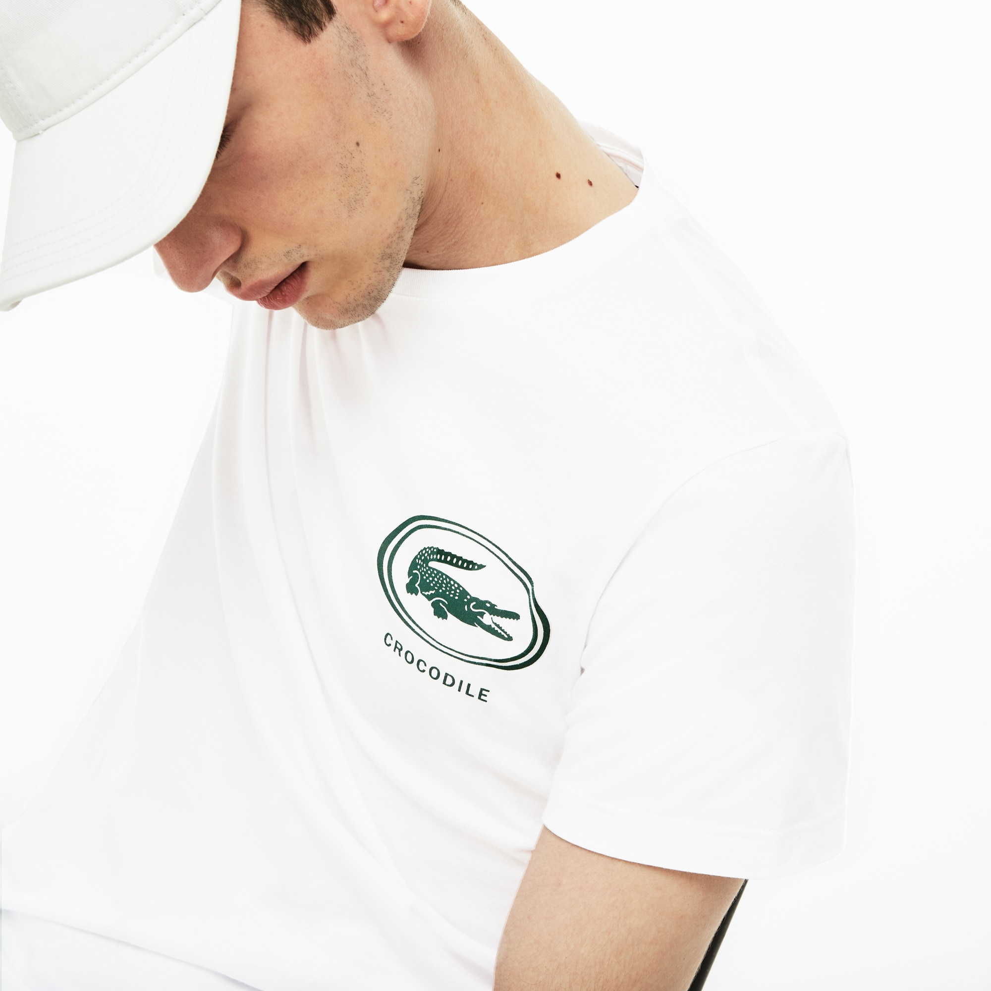 15eca062 Men's Crew Neck Crocodile Badge T-Shirt