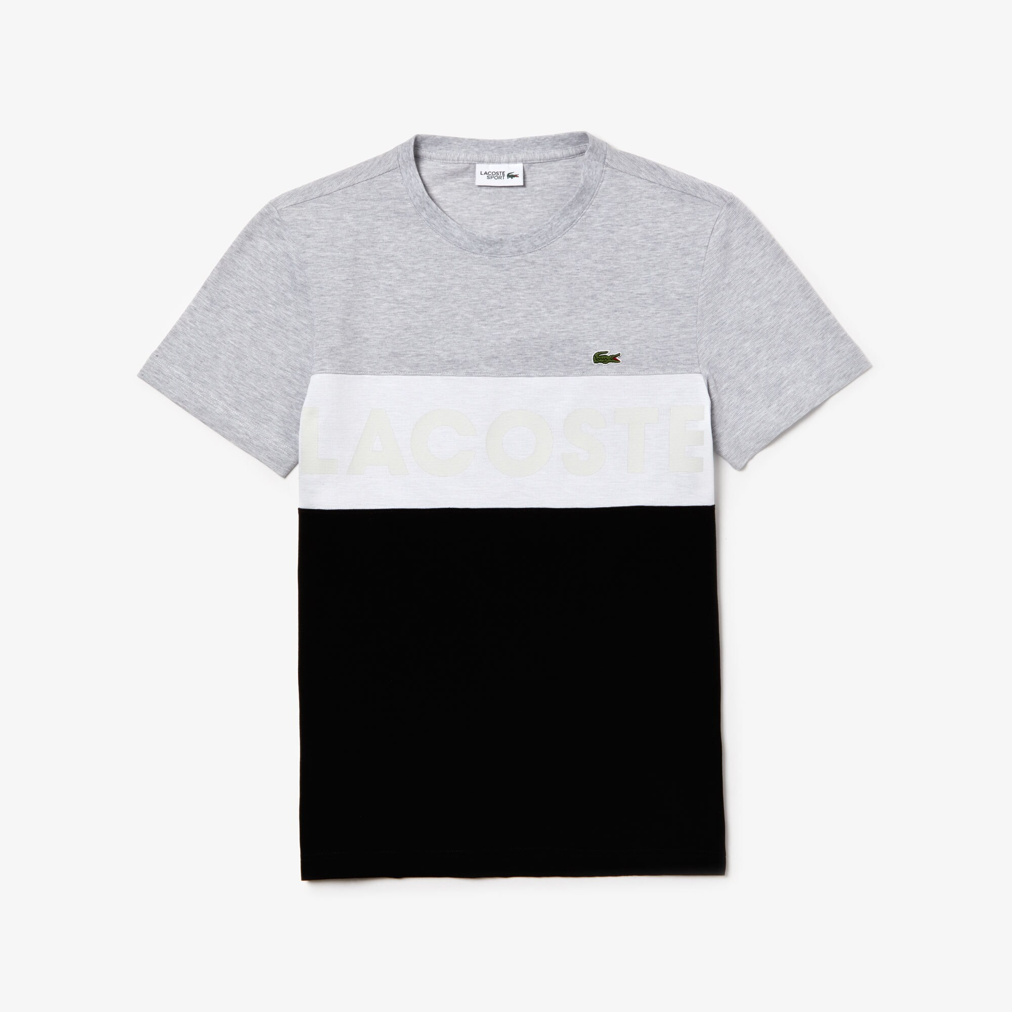 Men's Lacoste SPORT Lettering Colourblock Cotton T-shirt
