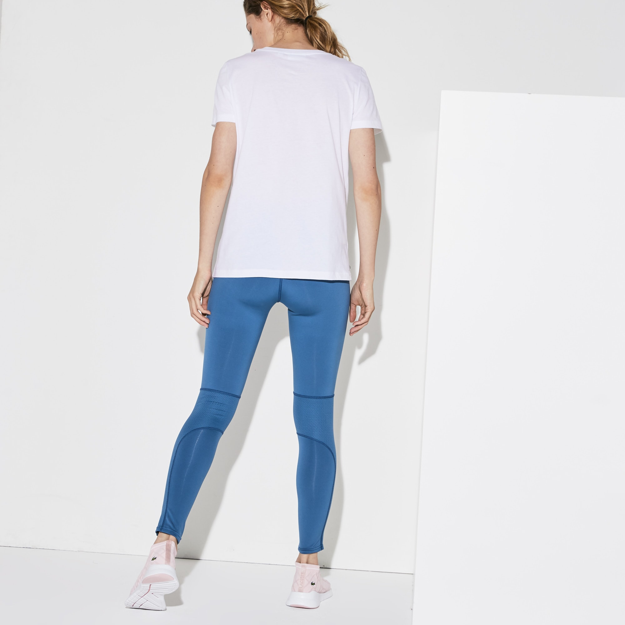 Women's Lacoste SPORT Stretch Jersey Tech Tennis Leggings