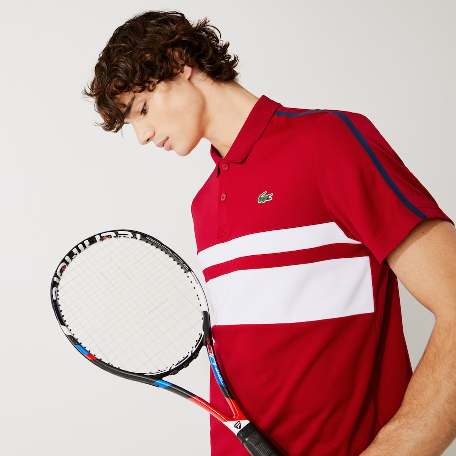 Men's Lacoste SPORT Breathable Resistant Piqué Tennis Polo Shirt