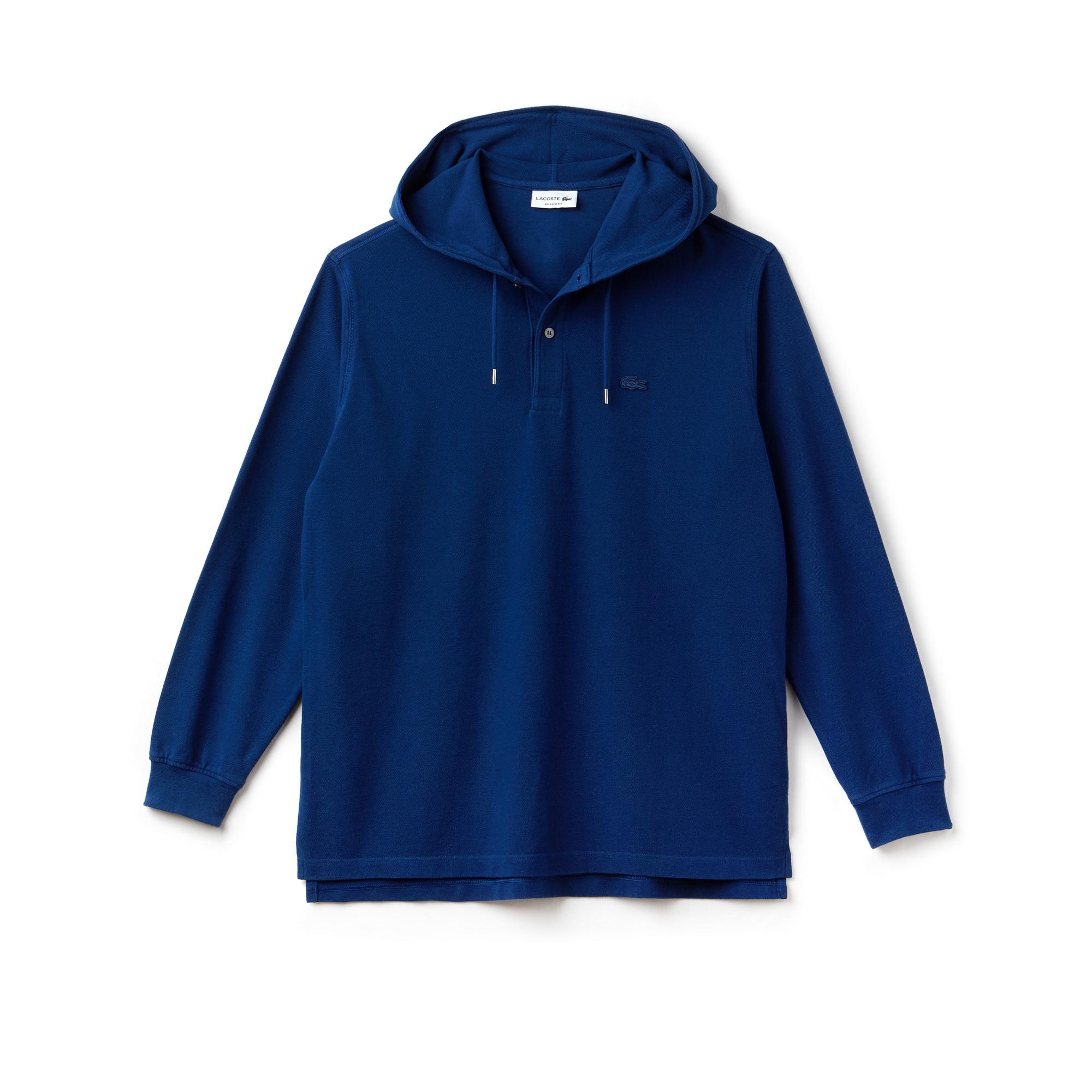 Men's Relaxed Fit Petit Piqué Hooded T-shirt