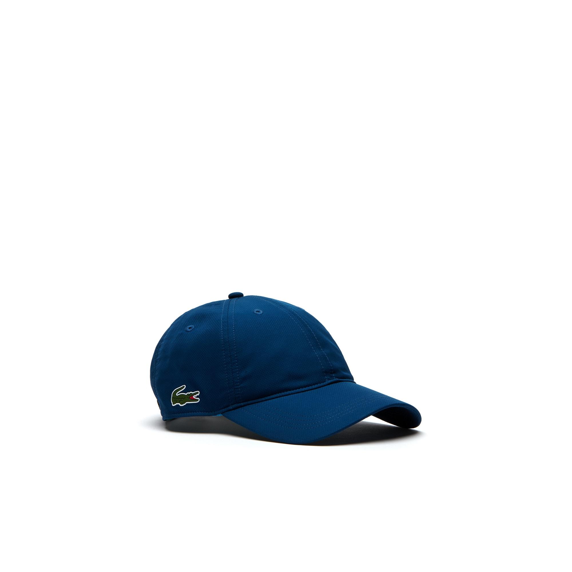 Men's Lacoste SPORT cap in solid diamond weave taffeta
