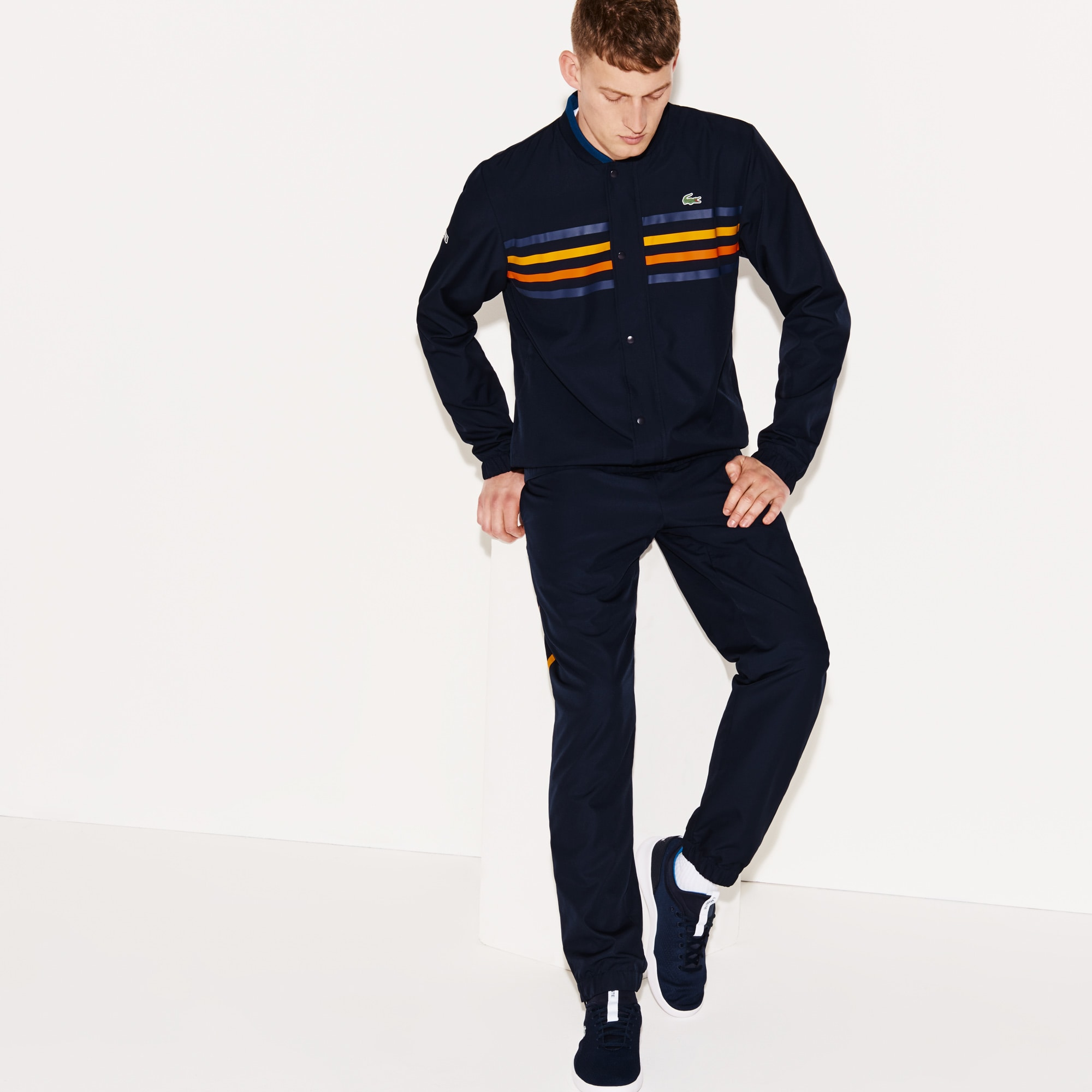 Men's Lacoste SPORT Colored Bands Tennis Tracksuit