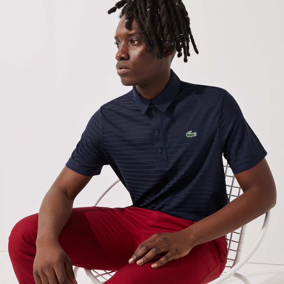 Men's Lacoste SPORT Textured Breathable Golf Polo Shirt