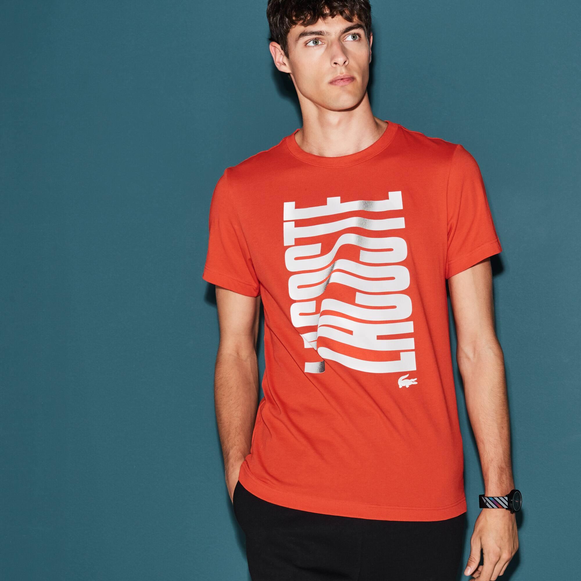 Men's Lacoste SPORT Tennis Lacoste Print Tech Jersey T-shirt