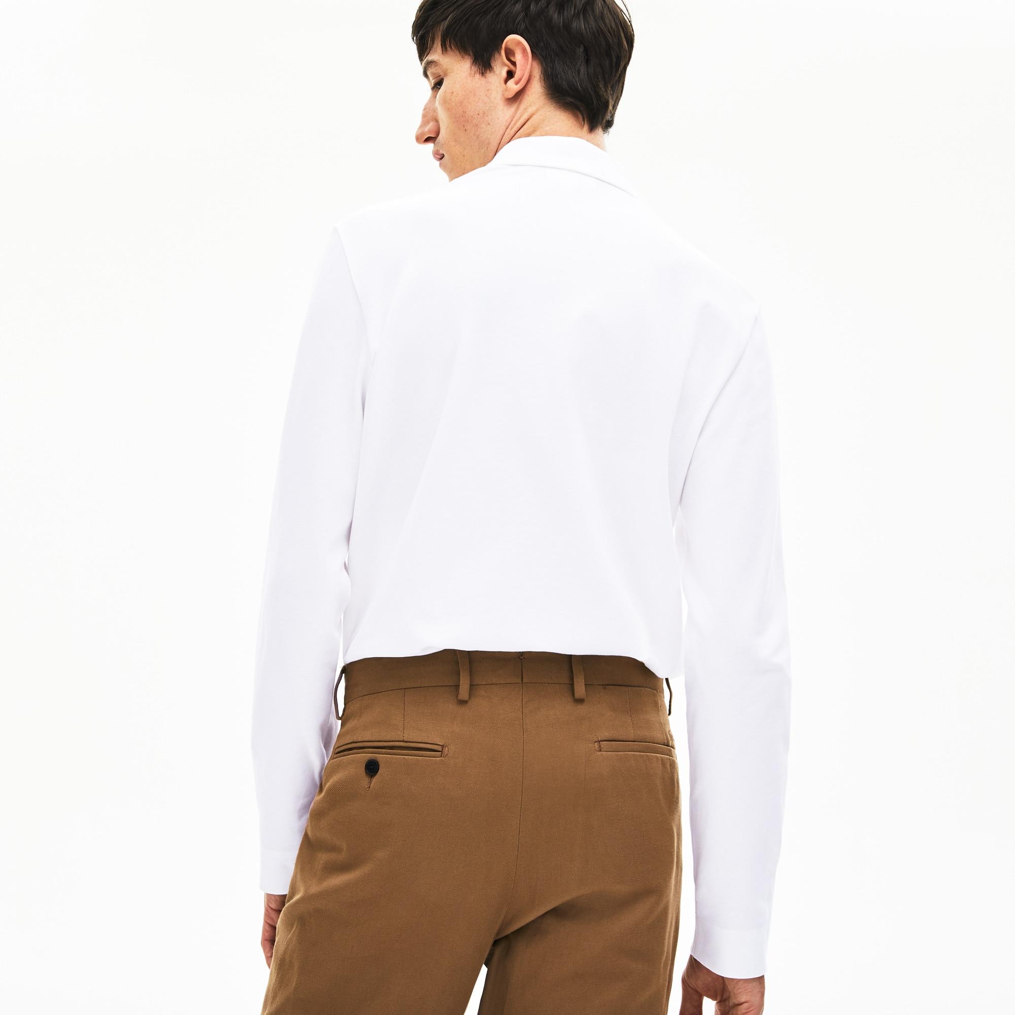 Fit Sleeve Men's Shirt Long Stretch Paris Regular Lacoste Polo T3FJclK1