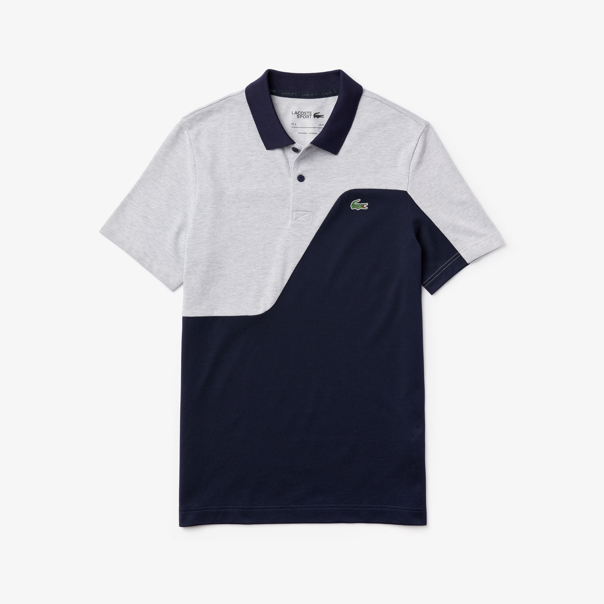 Men's Lacoste Sport Two-Tone Breathable Piqué Golf Polo Shirt