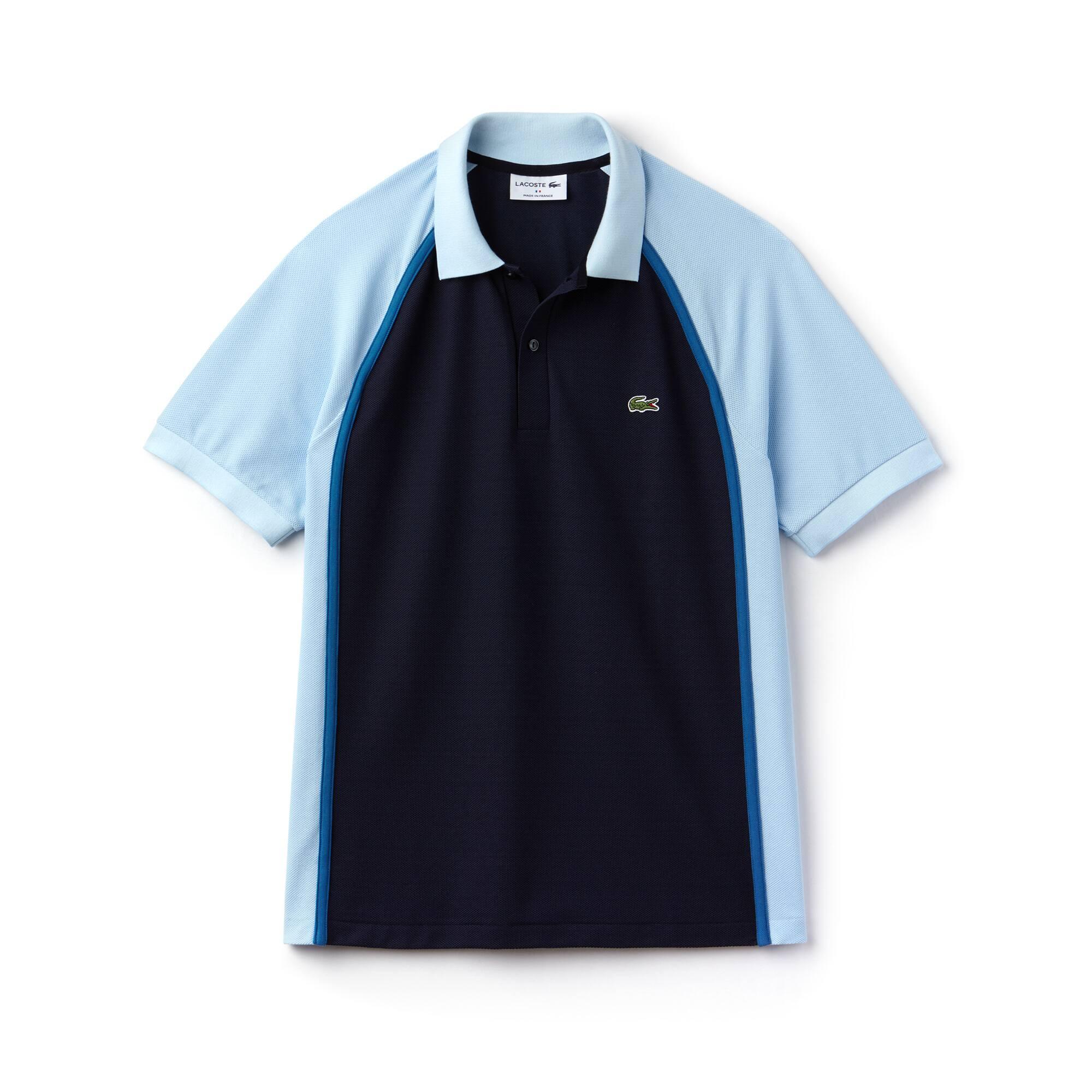 Men's Lacoste Made in France Regular Fit Colorblock Tech Piqué Polo
