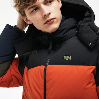 Men's Detachable Hood Down Water-Resistant Taffeta Jacket