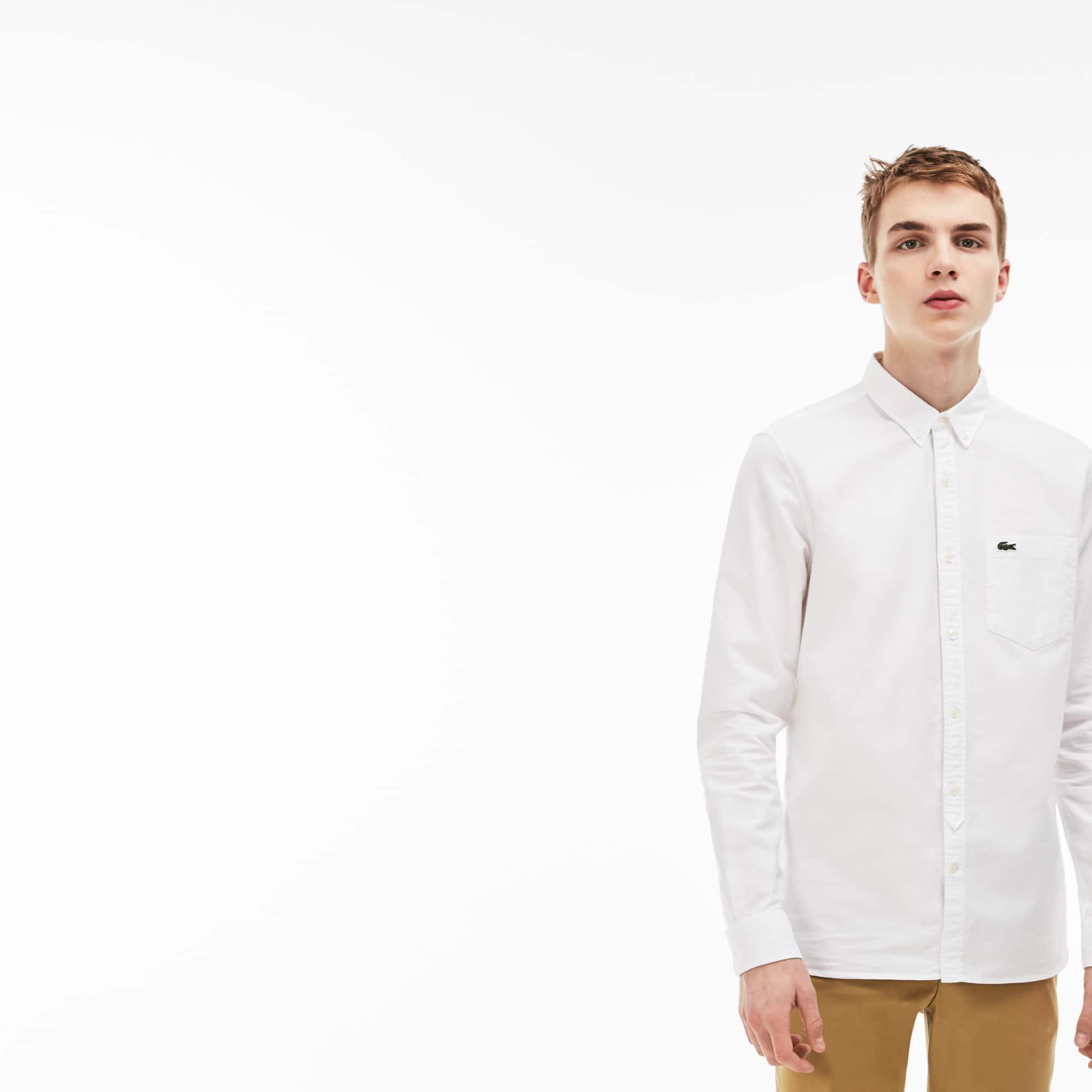 Men's Lacoste LIVE Skinny Fit Oxford Cotton Shirt