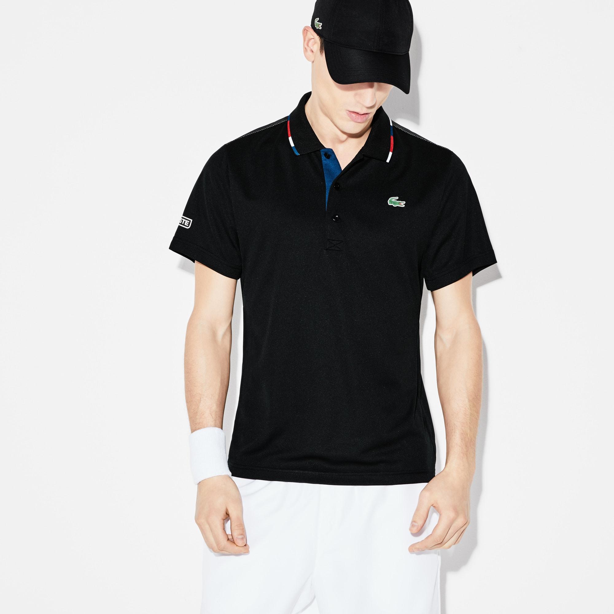 Men's Lacoste SPORT Piped Technical Piqué Tennis Polo Shirt
