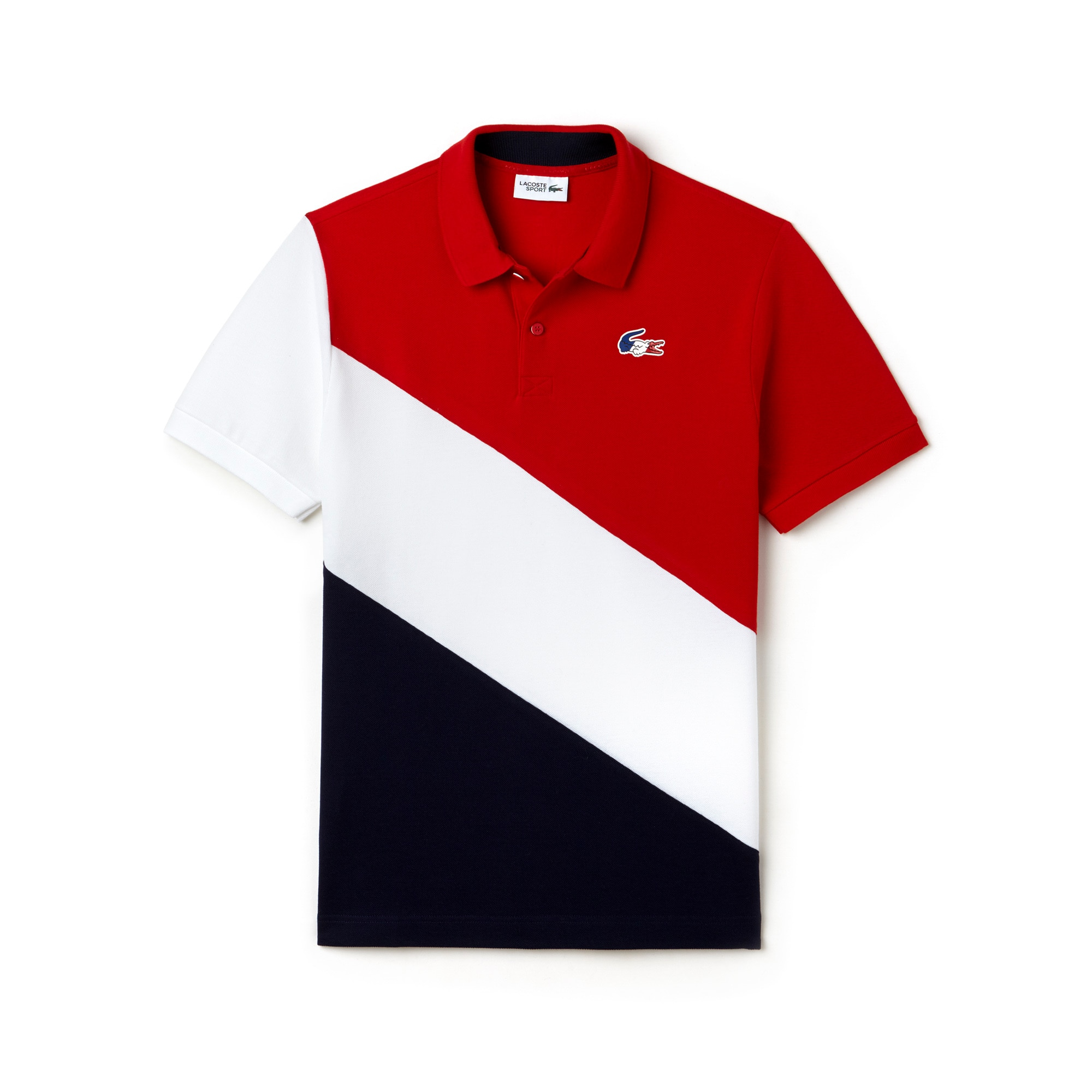 Men's Lacoste FRENCH SPORTING SPIRIT Edition Colorblock Petit Piqué Polo