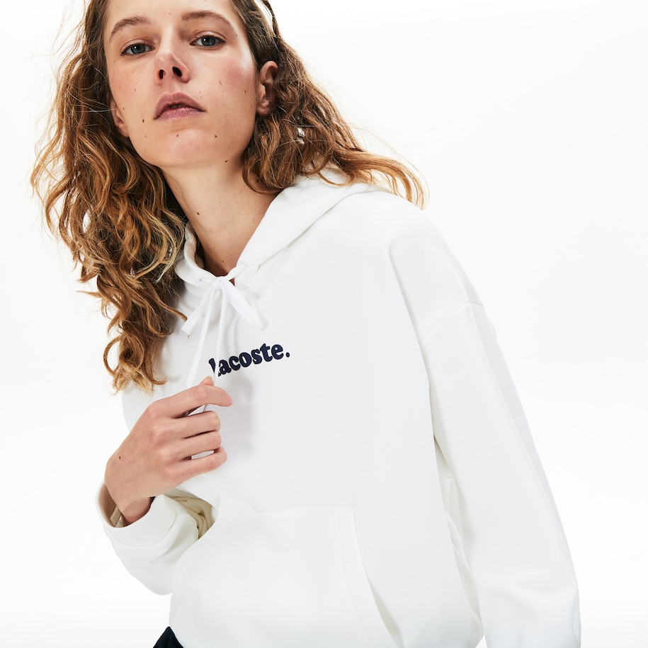 Women's Loose Fit Signature Wide Hooded Fleece Sweatshirt