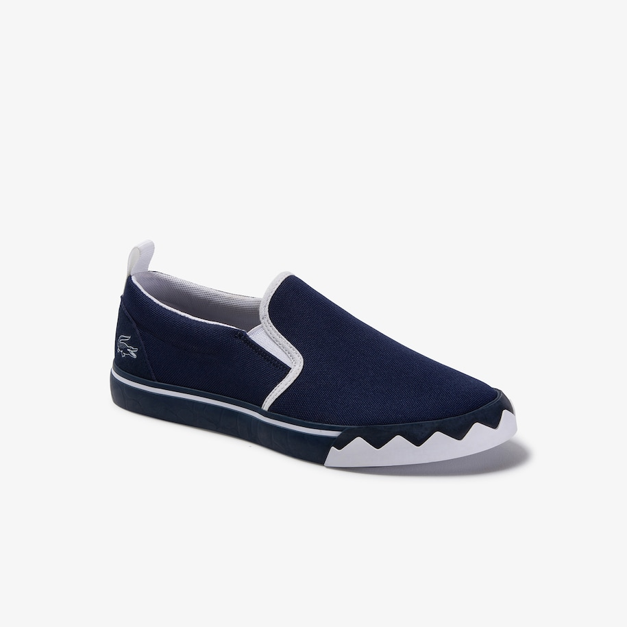 Children's Gazon Croco Contrast-colour Canvas Slip-ons