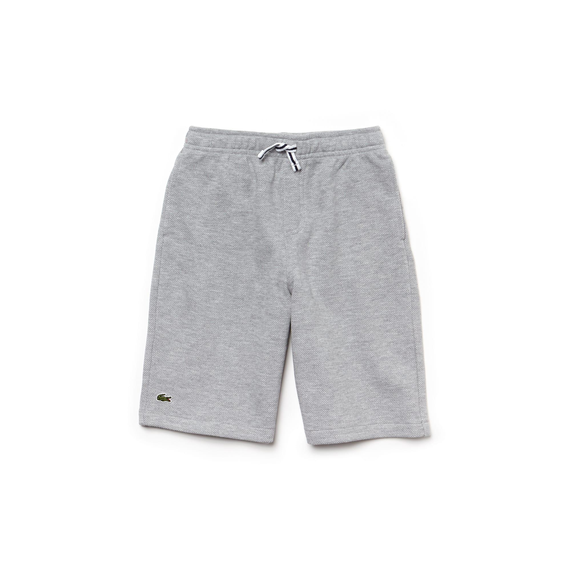 Boys' Brushed Fleece Piqué Bermuda Shorts