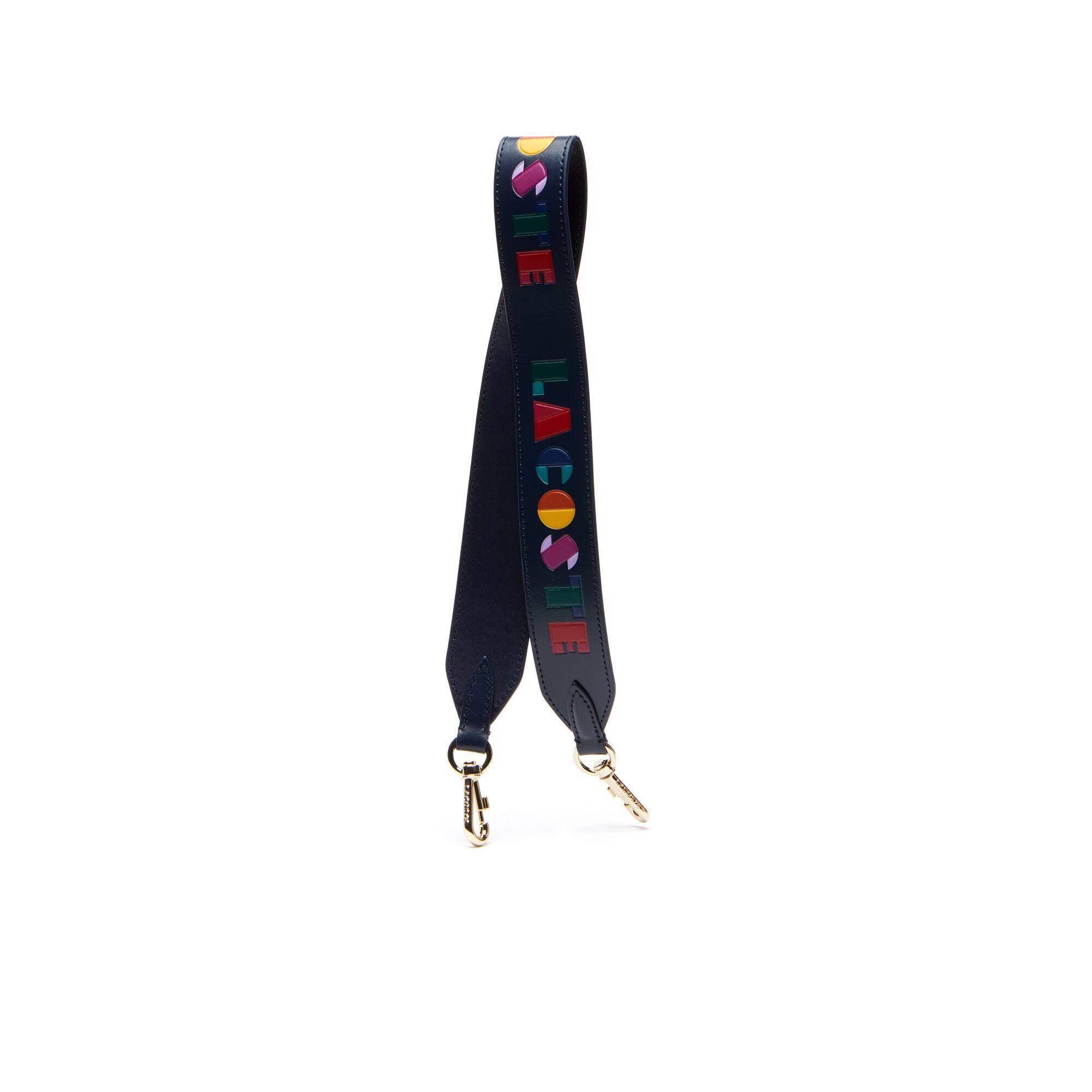 Women's Fancy Straps Colored Lacoste Leather Shoulder Strap