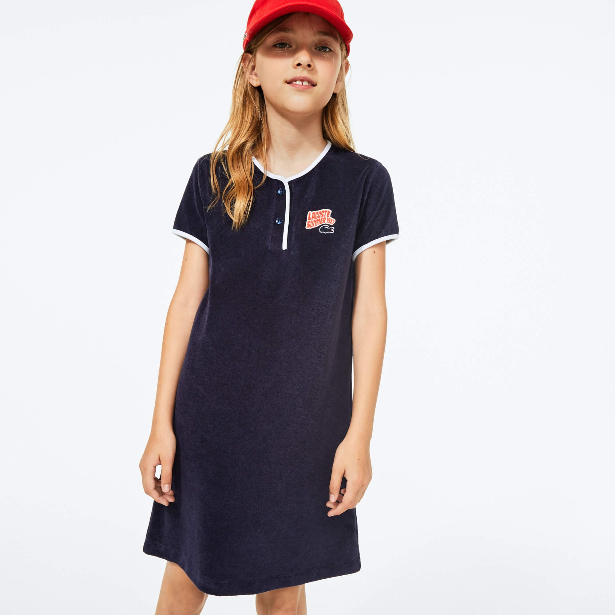 Girls' Badge Sponge Fabric Dress