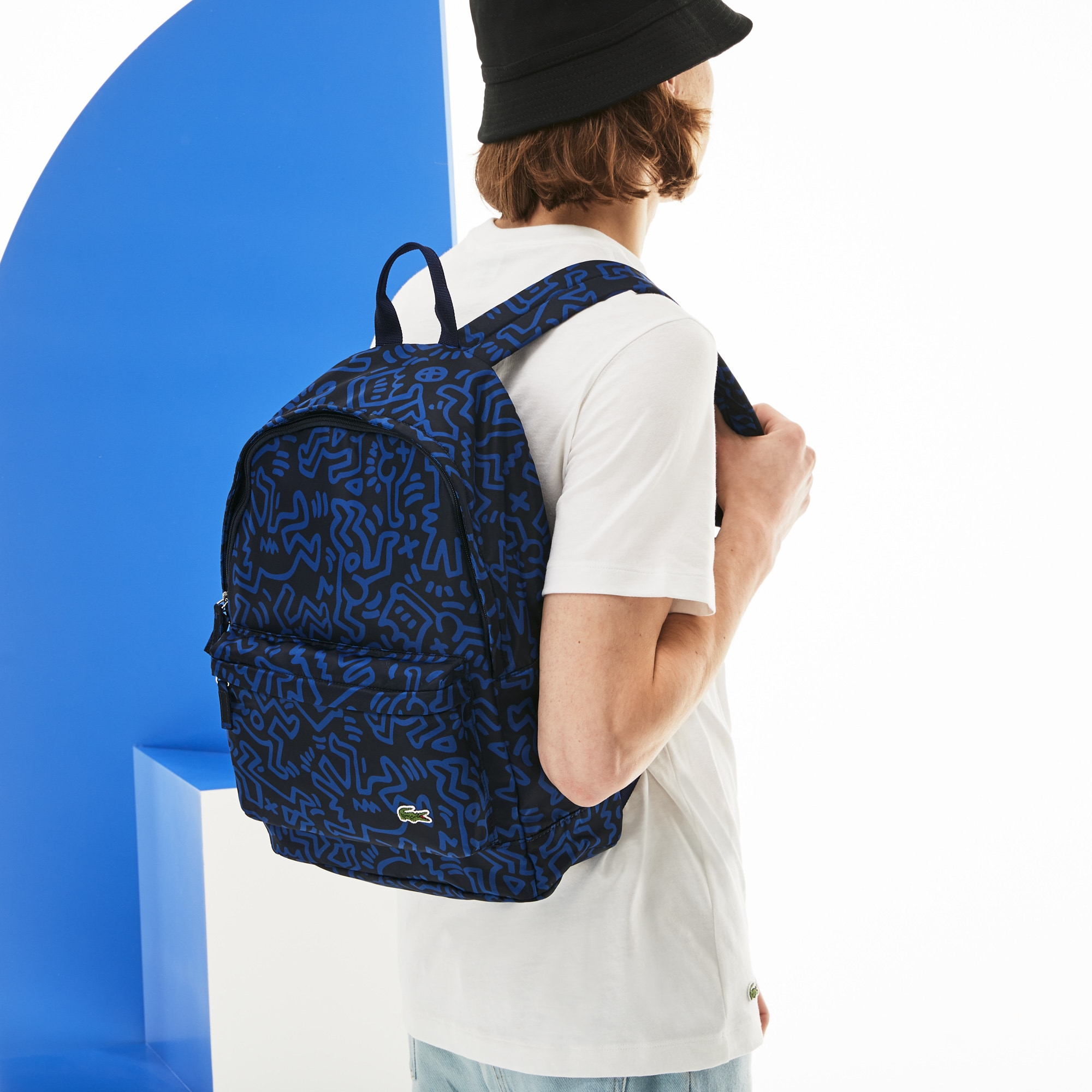 Men's Keith Haring Print Canvas Backpack