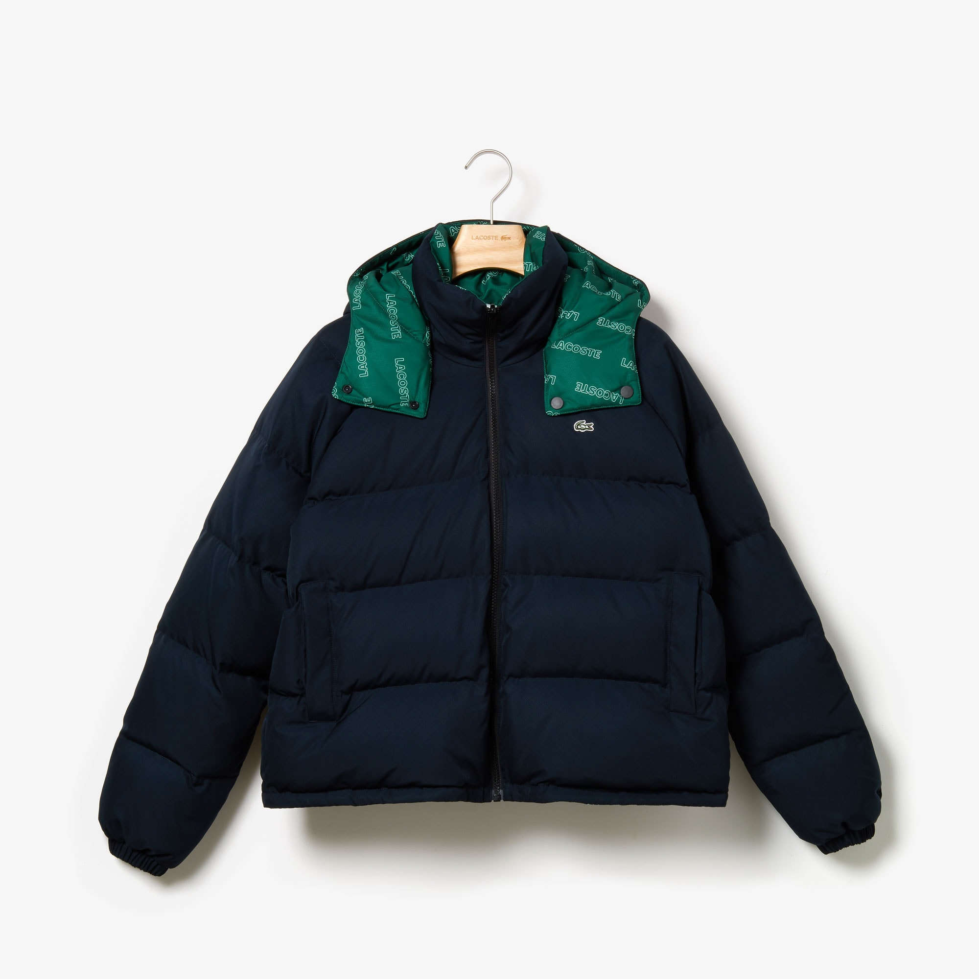 Women's Lacoste LIVE Print Lining Short Reversible Quilted Jacket