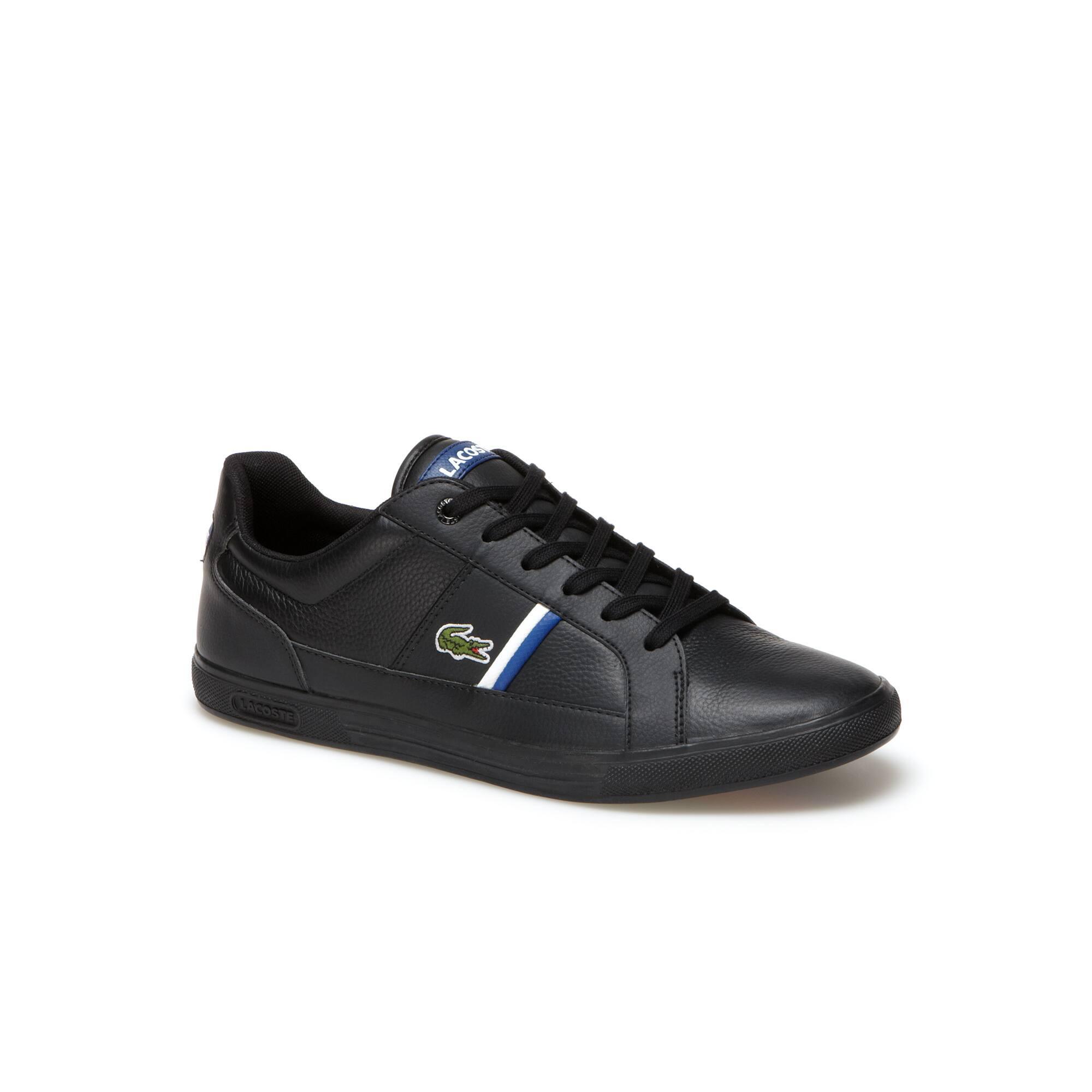 Sneakers Europa de cuero de primera calidad con detalles tricolores