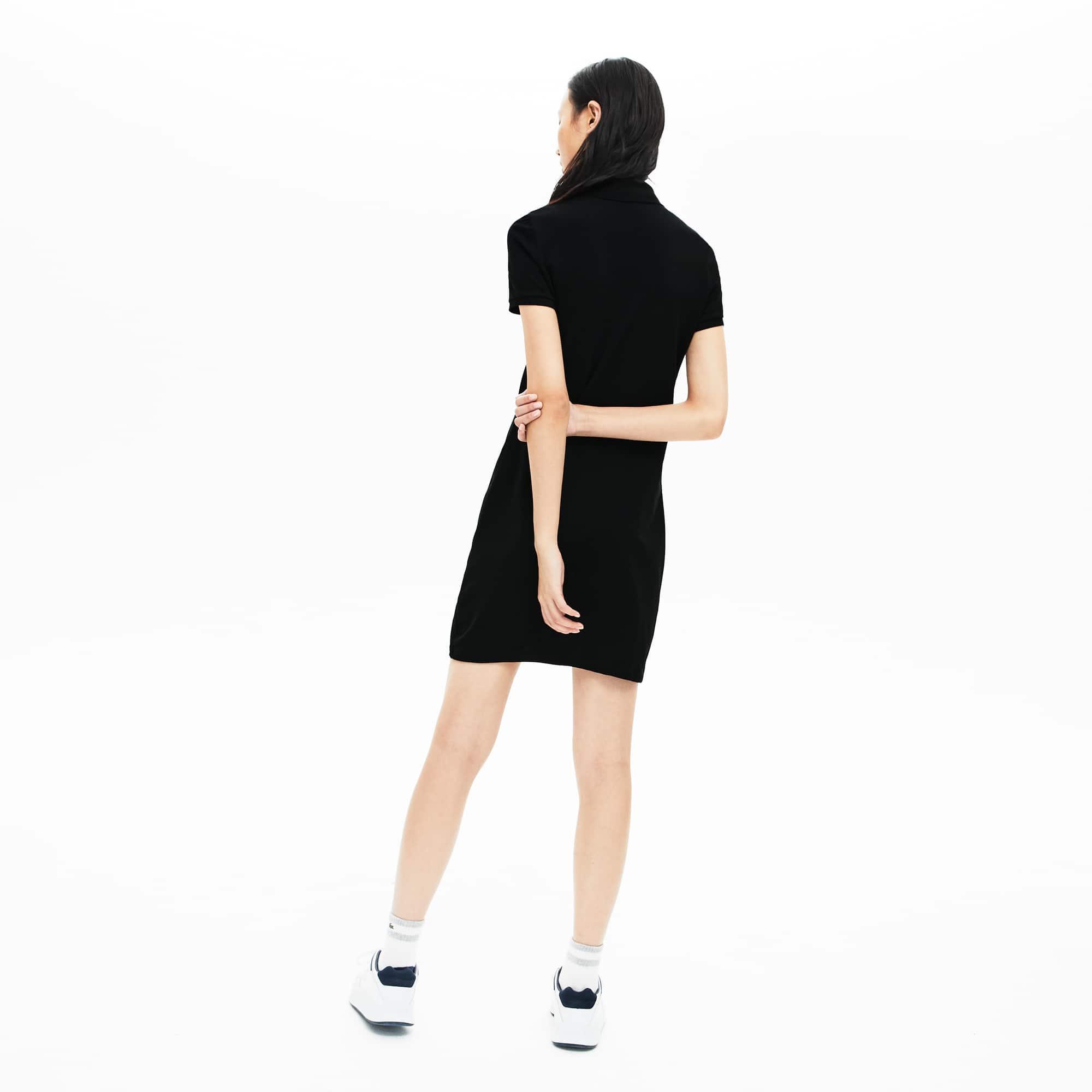 9211ba08f01 Vestido Polo De Mujer En Mini Piqué De Algodón Elástico