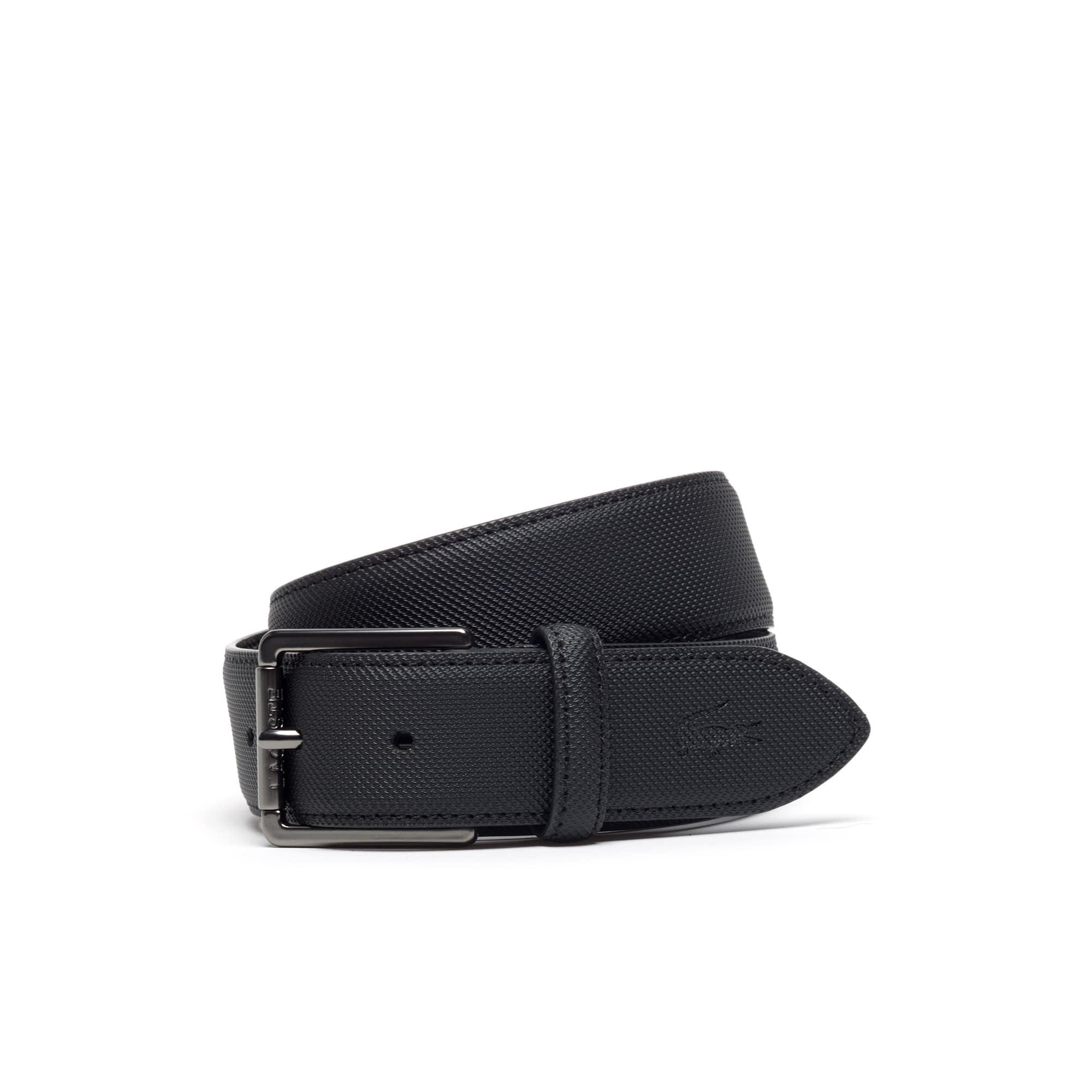Cinturón Men's classic de cuero con petit piqué repujado