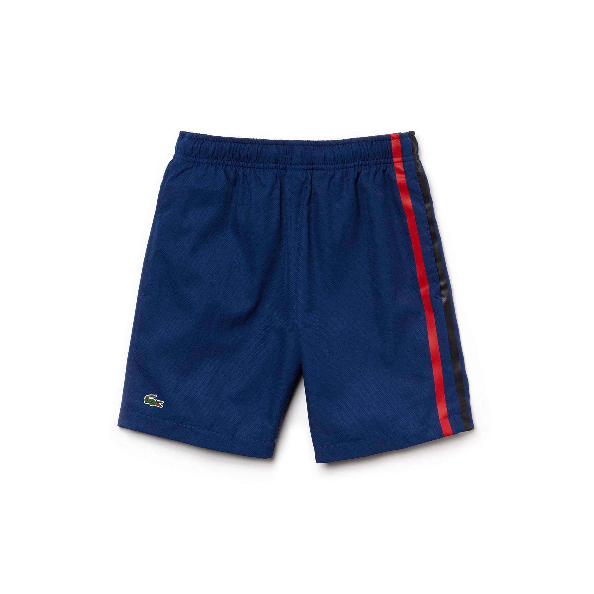 Pantalón corto de tafetán con franjas de colores para chico Tenis Lacoste SPORT