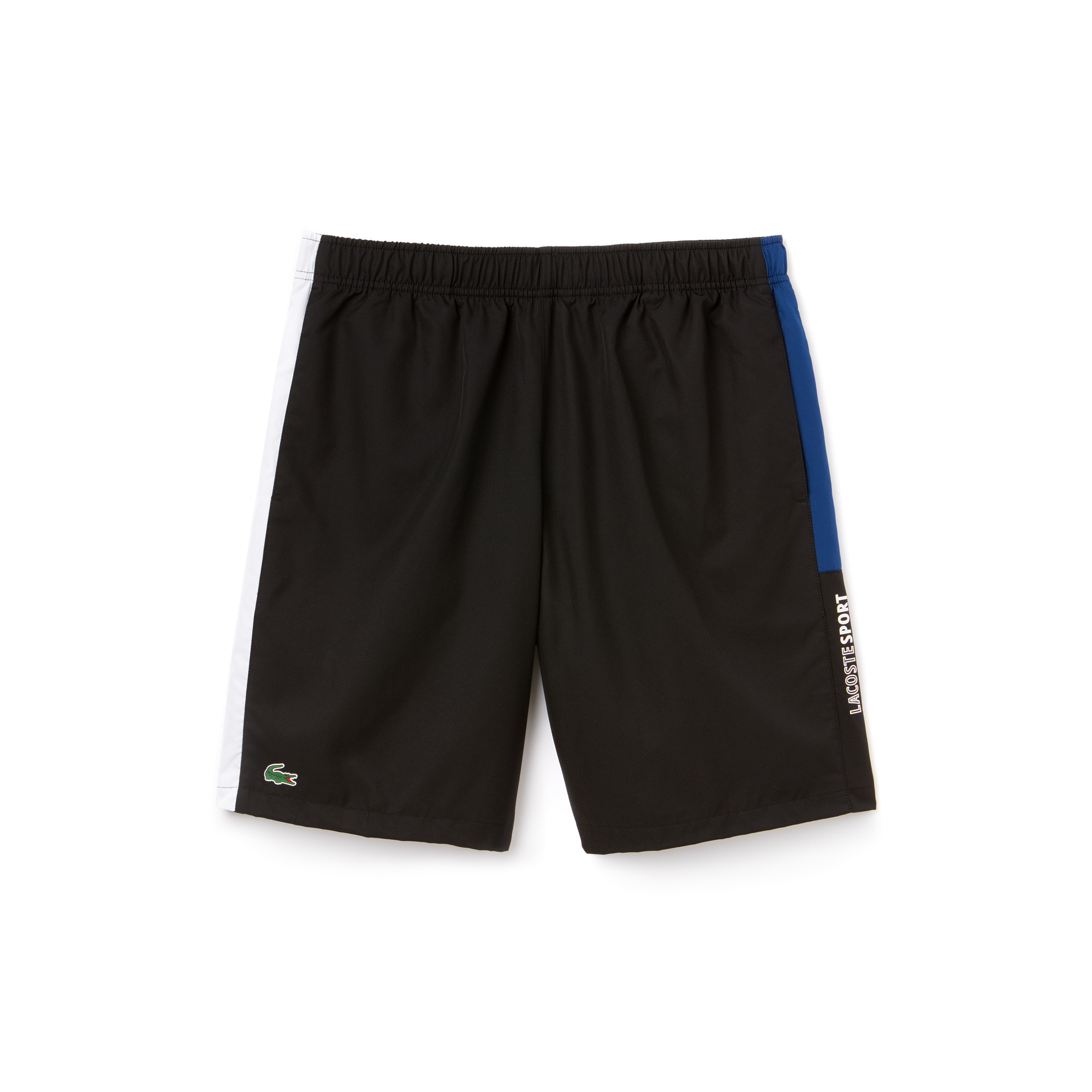Pantalón Corto De Hombre Lacoste SPORT Tennis En Tafetán Con Franjas De Colores