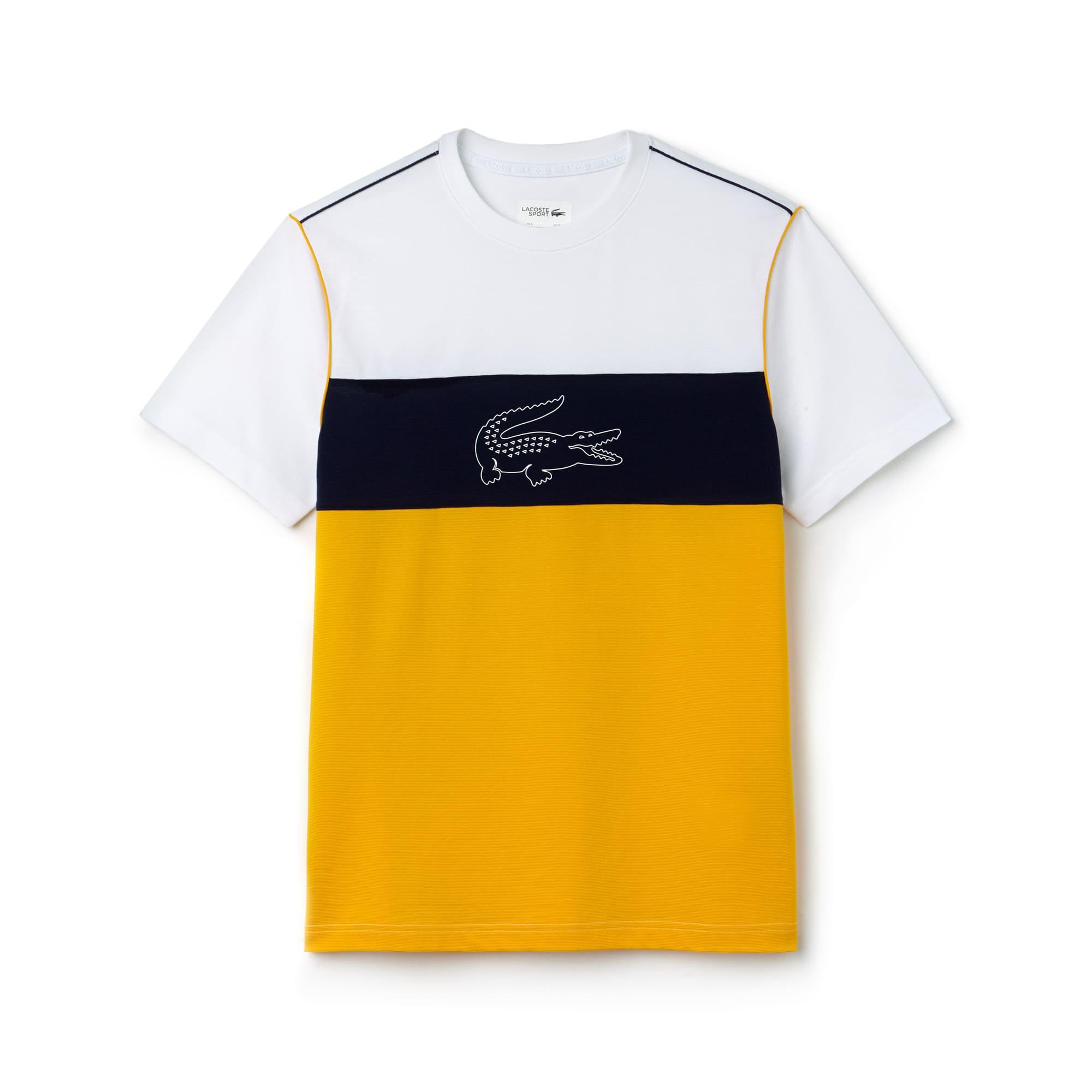 Camiseta Lacoste SPORT en algodón ultra ligero técnico color block