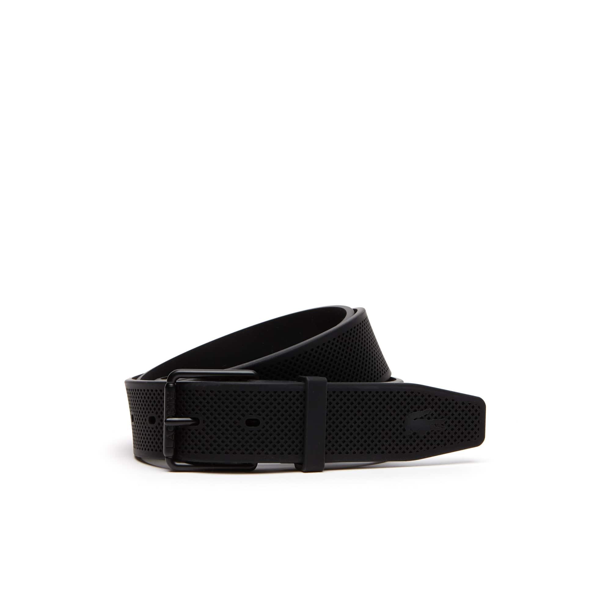 Cinturón de silicona con hebilla de lengüeta con rodillo grabado Lacoste
